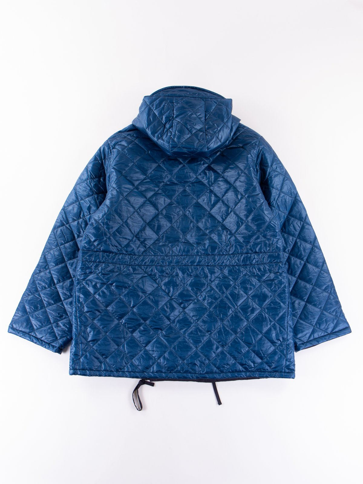 Navy 3oz Zigzag Dotera Fill Hooded Quilted Jacket - Image 6