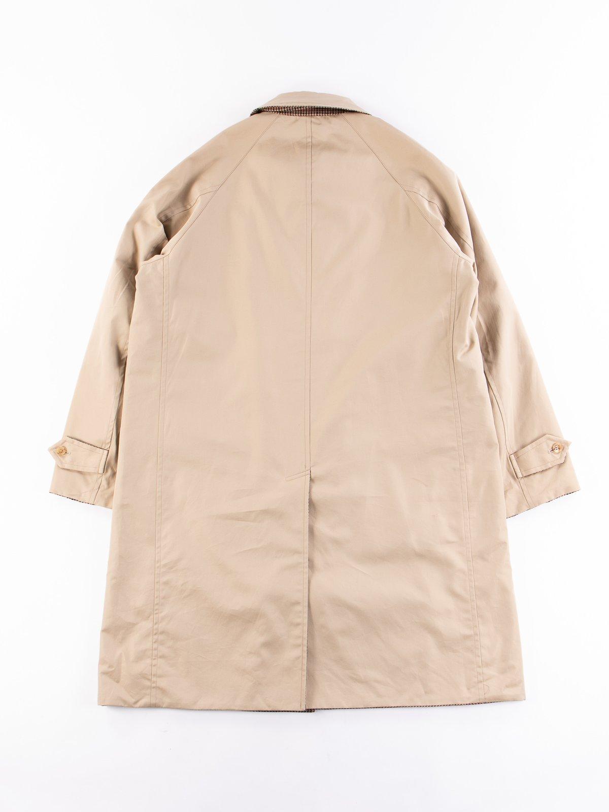 Light Khaki/Gunclub Reversible Balmacaan Coat - Image 6