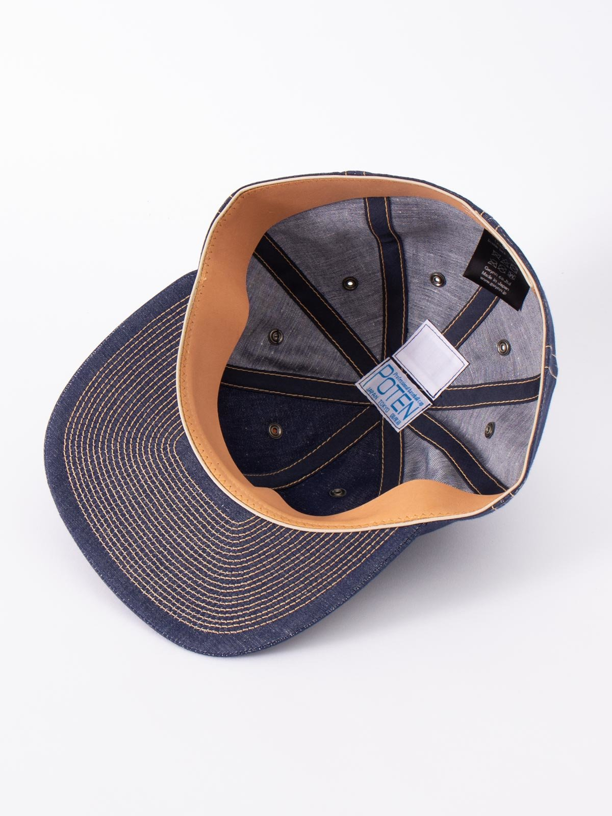NAVY COTTON LINEN CAP - Image 4
