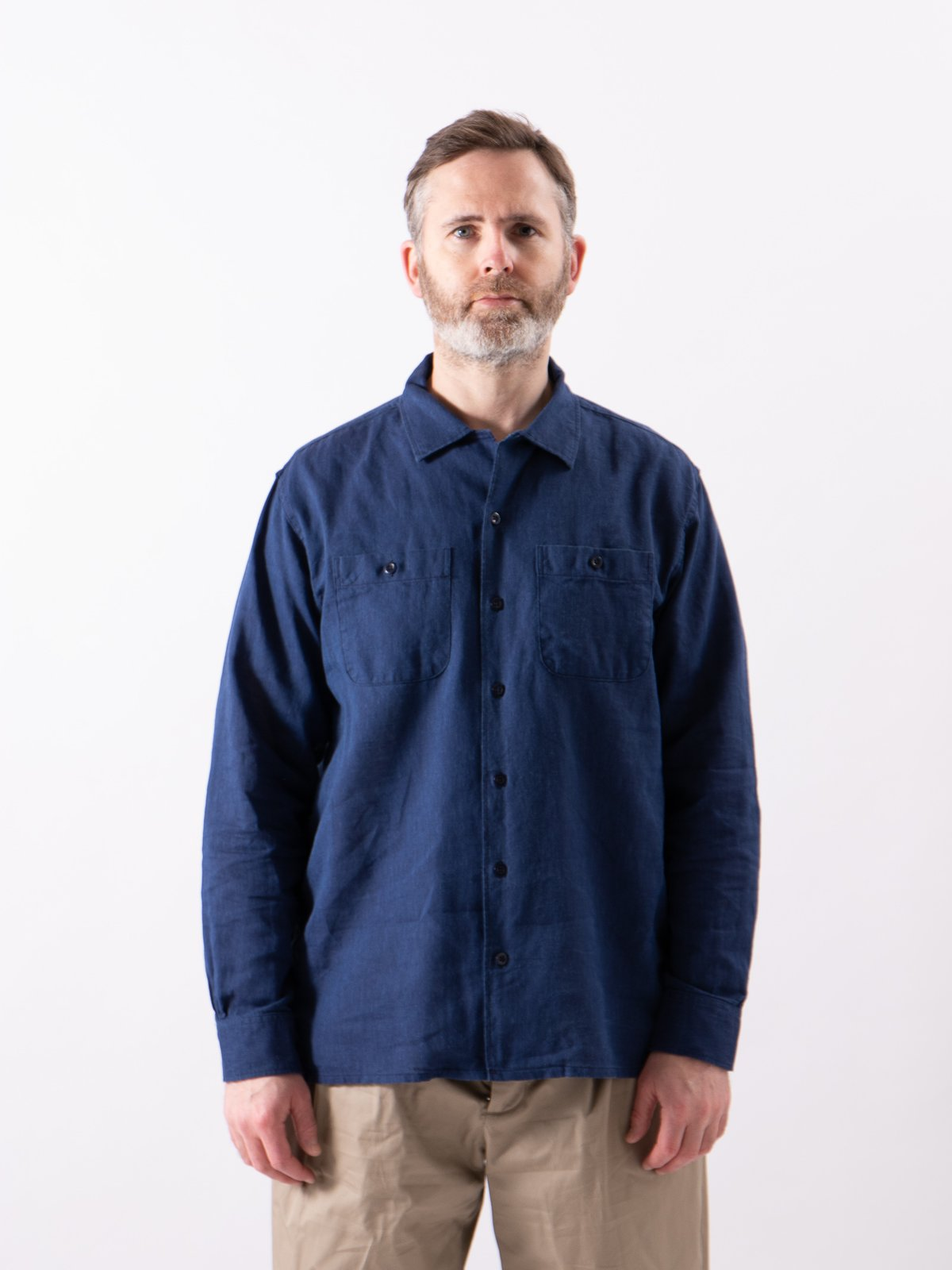 Navy CL Solid Classic Shirt - Image 2