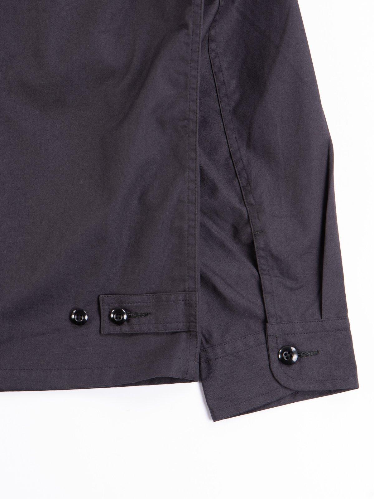 Fade Black Selvedge Poplin Cotton Combat Short Jacket - Image 6