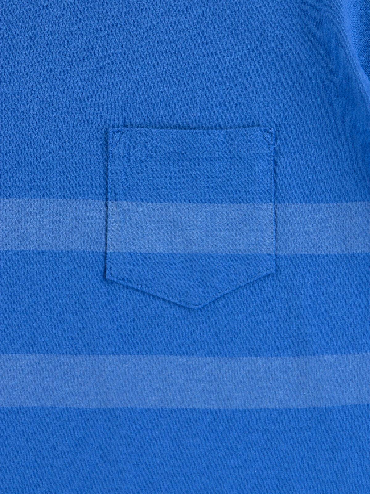Blue Stripe Cote D'Ivoire Cotton T–Shirt - Image 3