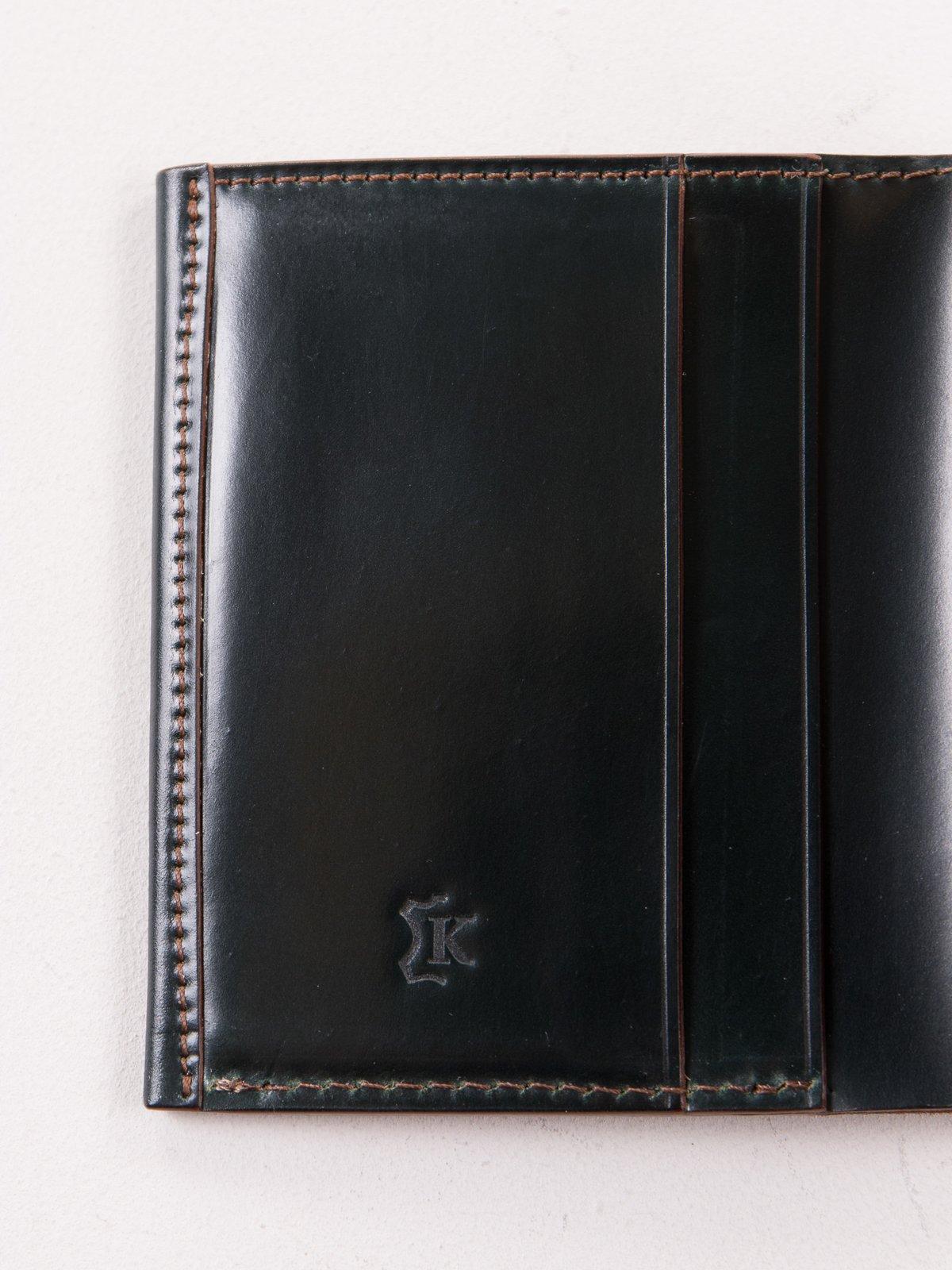Green Horween Cordovan 2–2 Wallet - Image 3