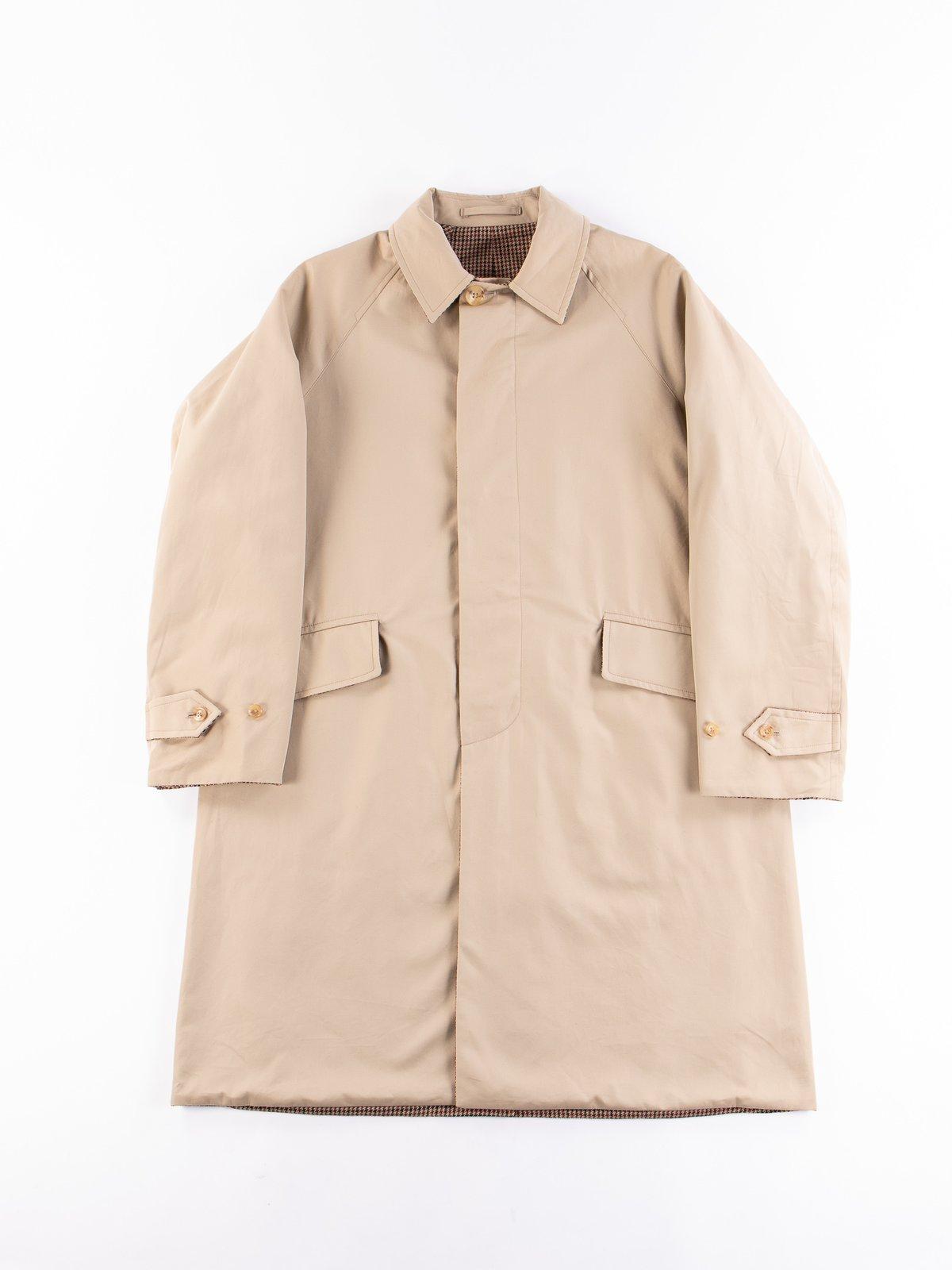 Light Khaki/Gunclub Reversible Balmacaan Coat - Image 1