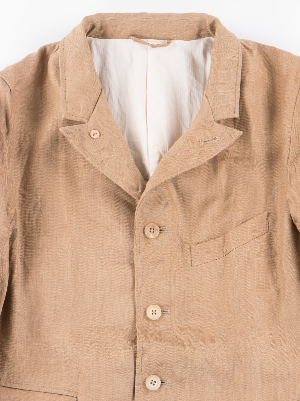 Beige Linen Old Potter Jacket - Image 2