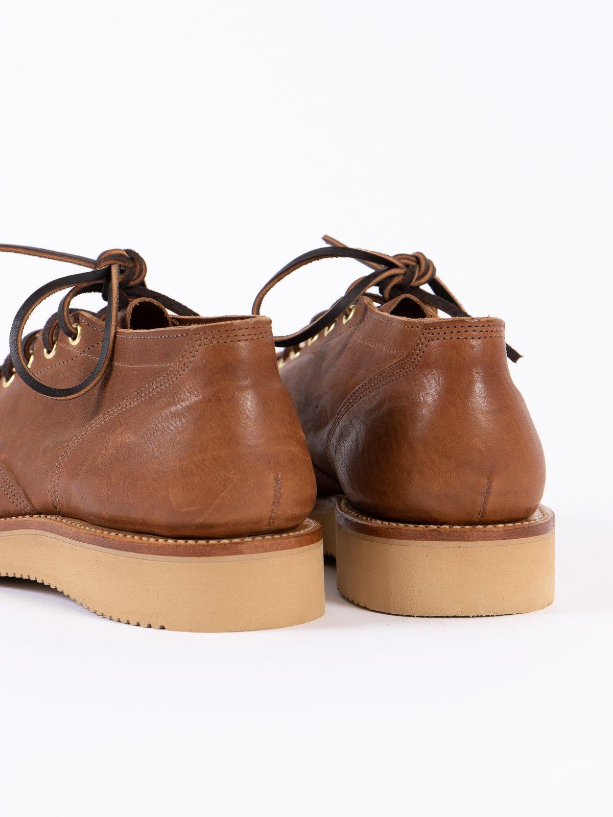 Maryam Tan Washed Horse Hide 245 Oxford Shoe - Image 6