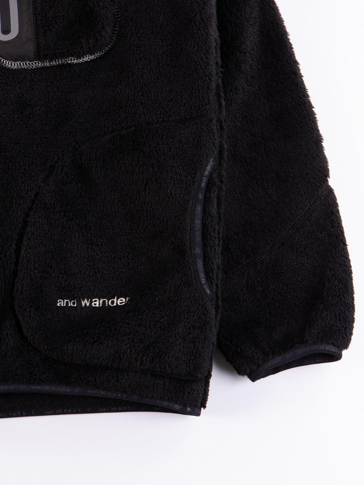 Black High Loft Fleece Pullover - Image 5