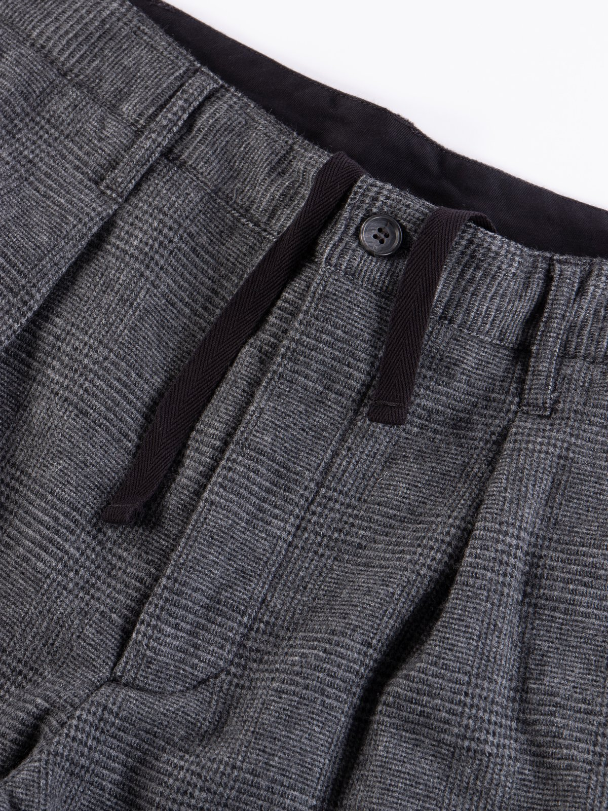 Grey Wool Glen Plaid Stripe Carlyle Pant - Image 4