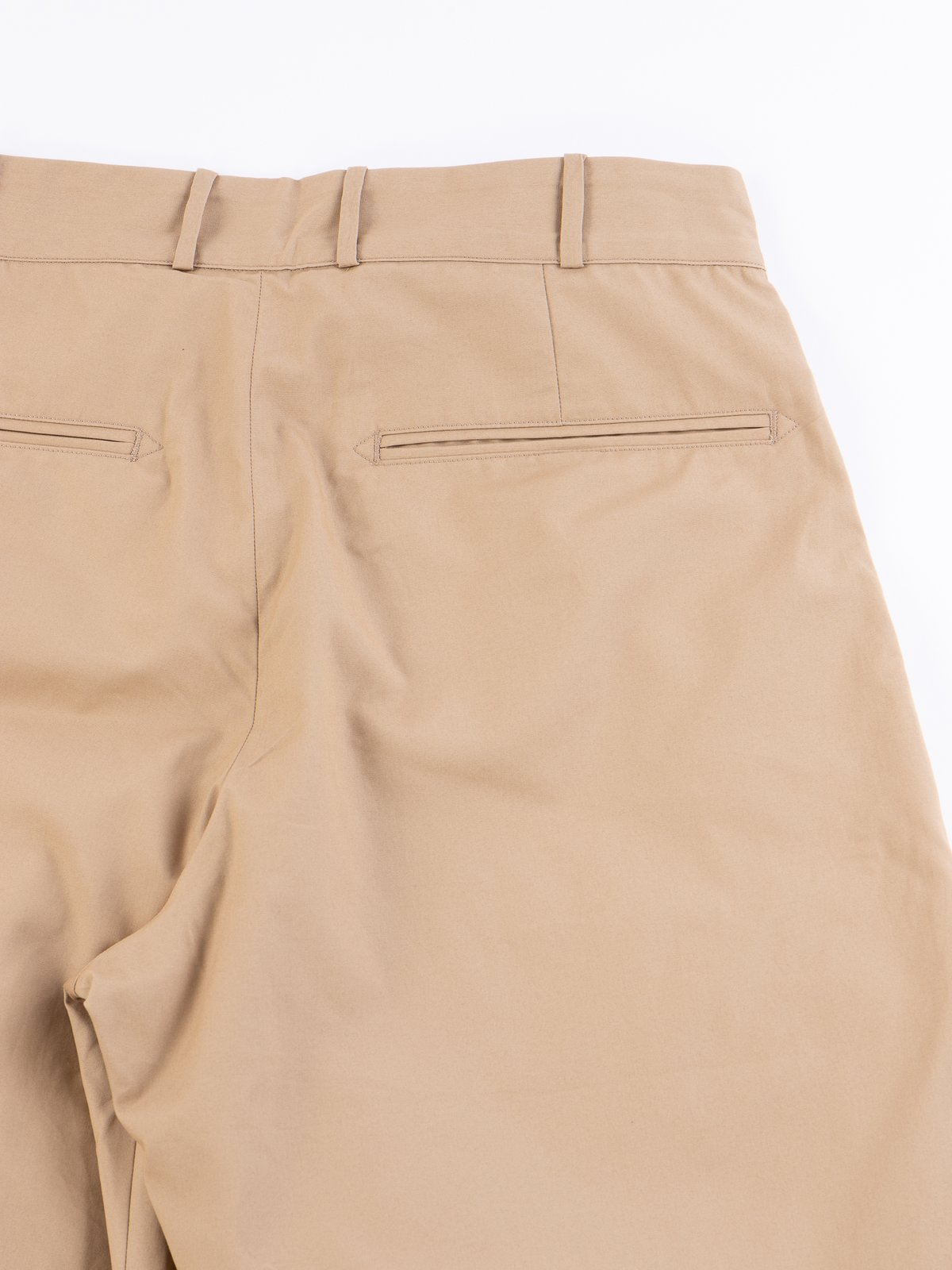 Khaki Oxford Vancloth Triple Tuck Wide Pant - Image 6