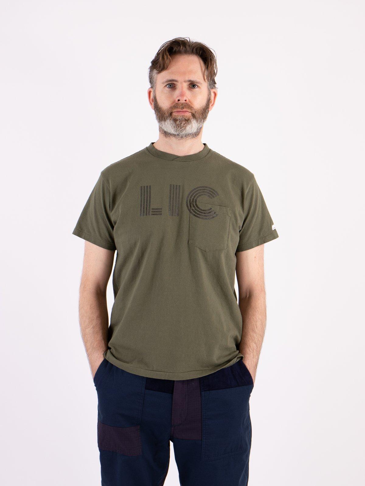 Olive LIC Printed T–Shirt - Image 2