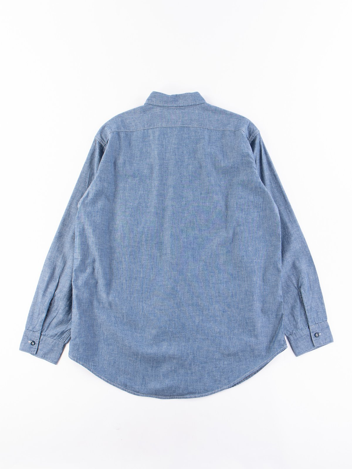 Blue Chambray Vintage Fit Work Shirt - Image 5