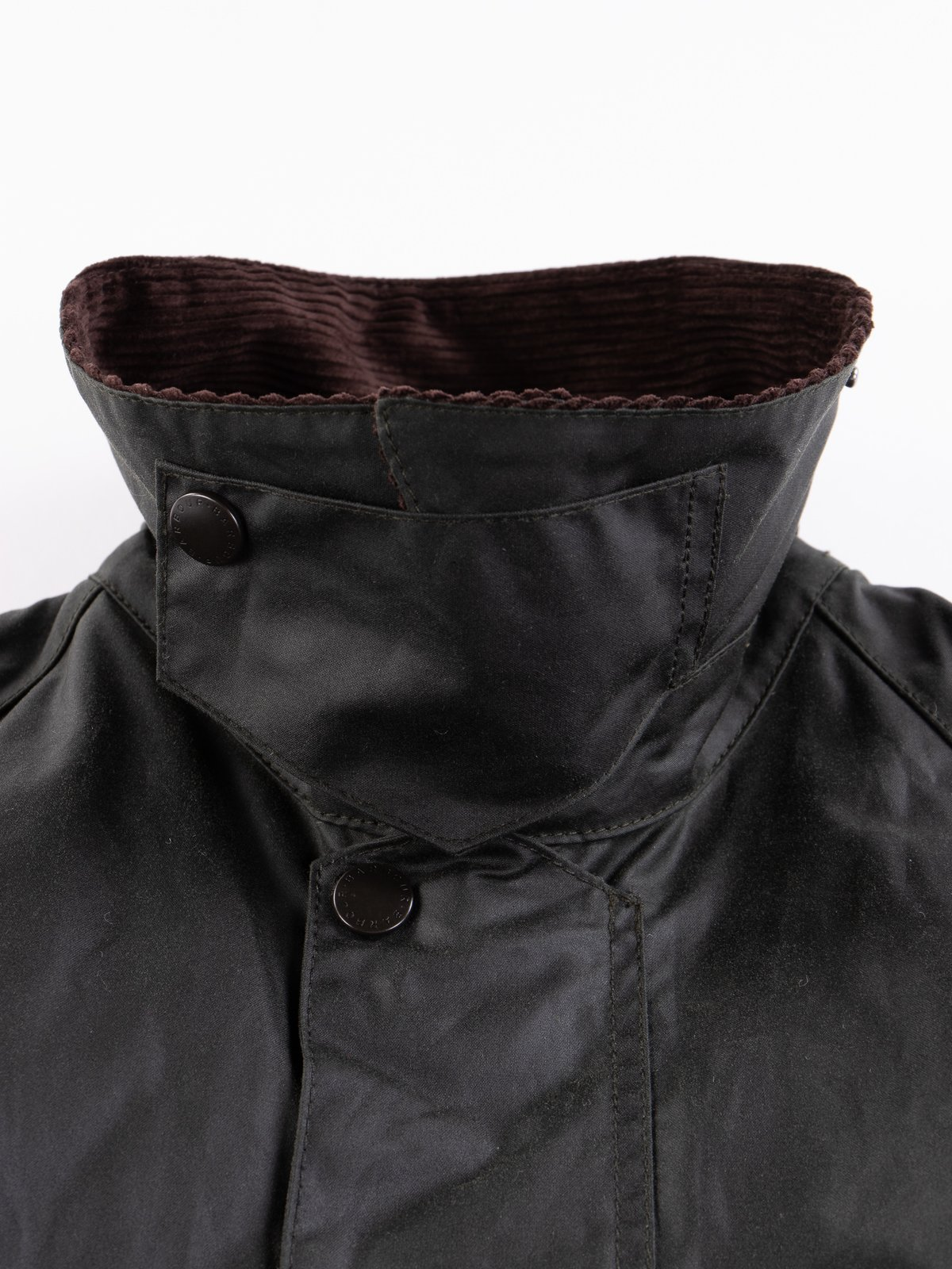 Sage Oversized Beaufort Waxed Cotton Jacket - Image 7