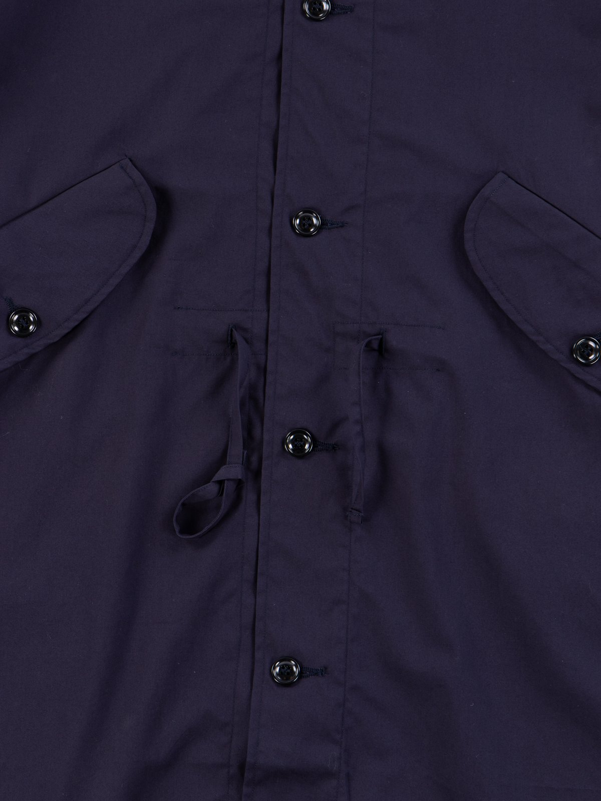 Navy Oxford Vancloth Czech Coat - Image 4