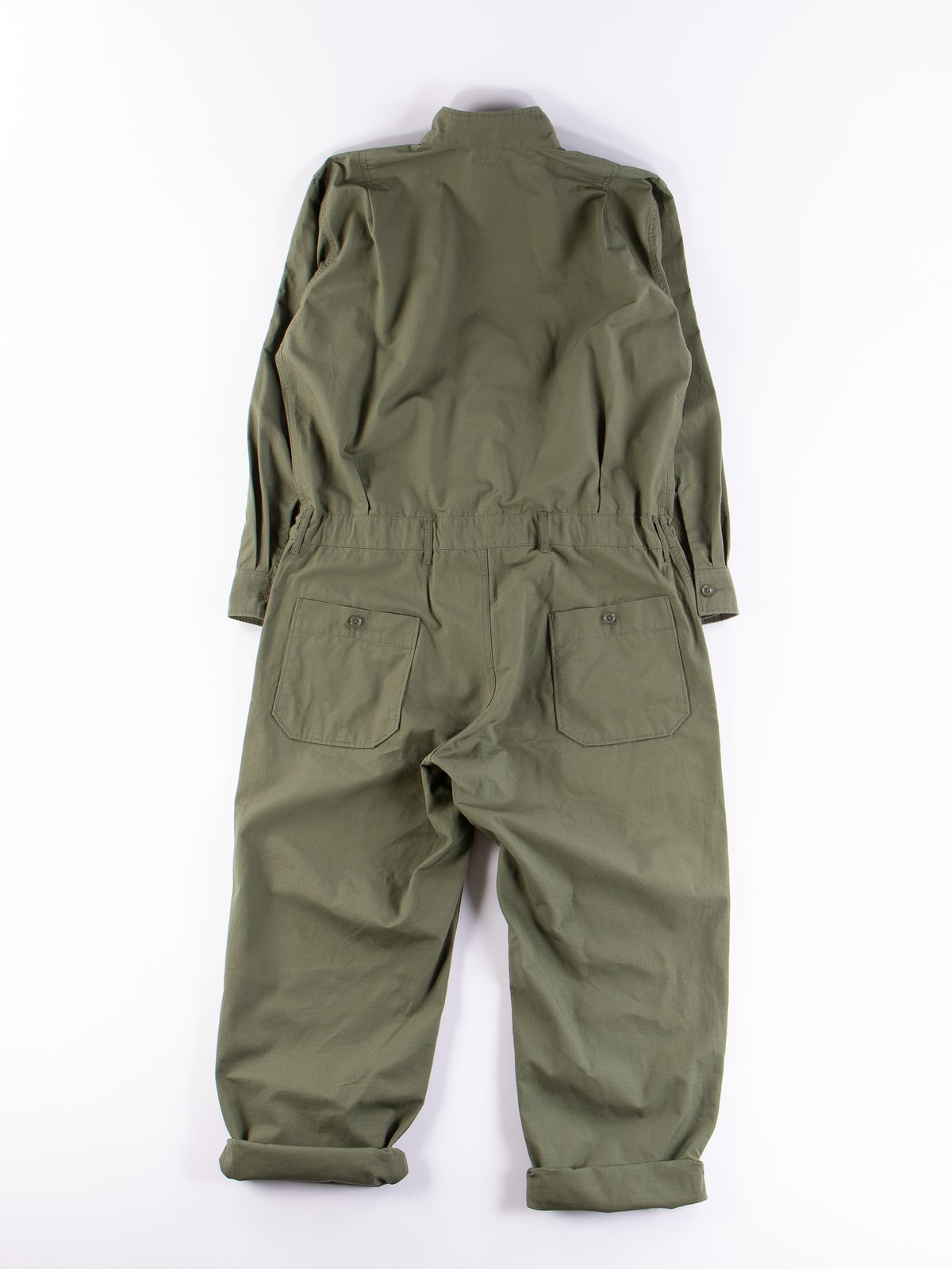 Olive Cotton Ripstop Boiler Suit - Image 8