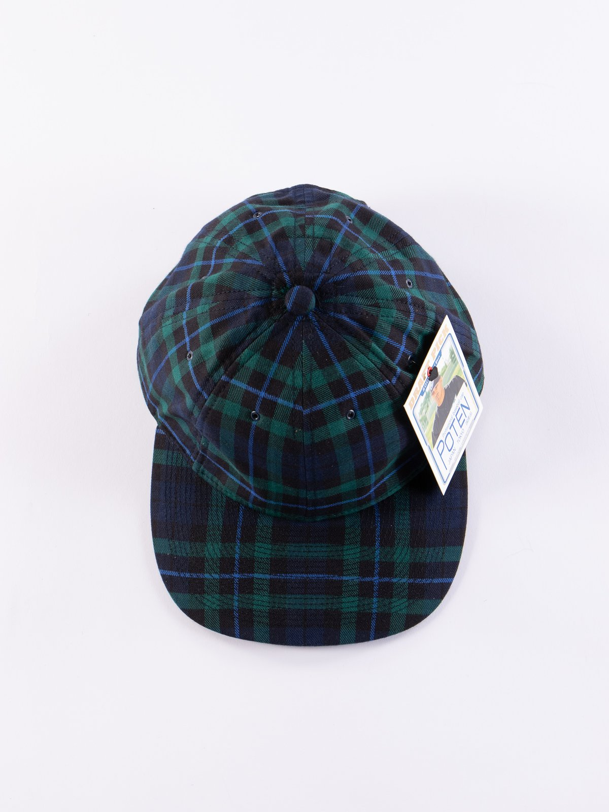 Navy Japanese Flannel Cap - Image 3
