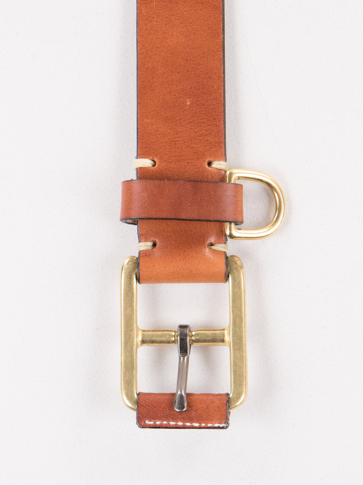 Buck Brown Stitched D–Ring Belt - Image 1