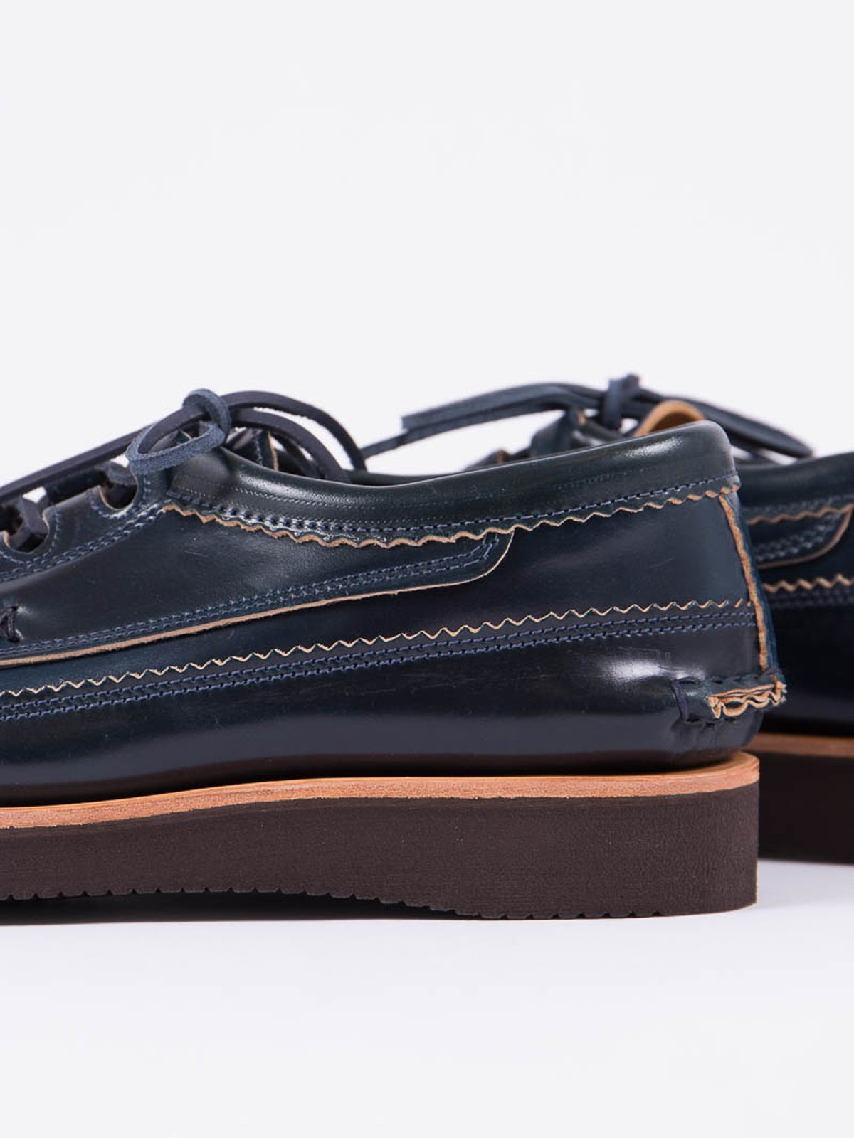 Navy Cordovan Ghillie Moc DB Shoe Exclusive - Image 3