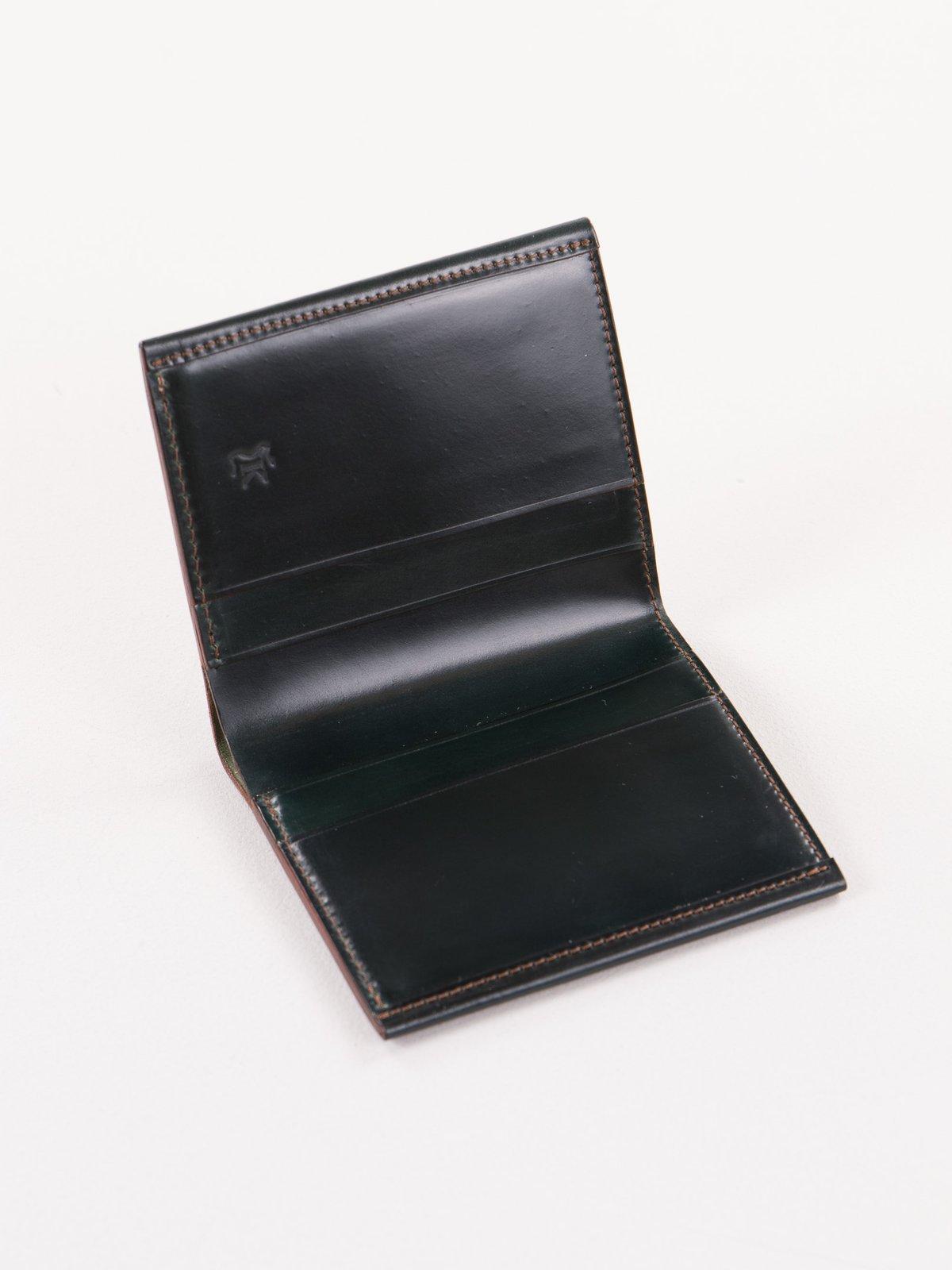 Green Horween Cordovan 2–2 Wallet - Image 2