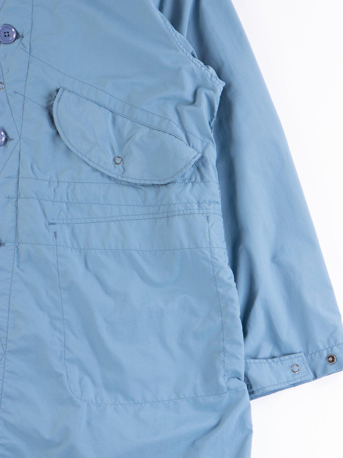 Light Blue Acrylic Coated Nylon Taffeta Highland Parka - Image 4