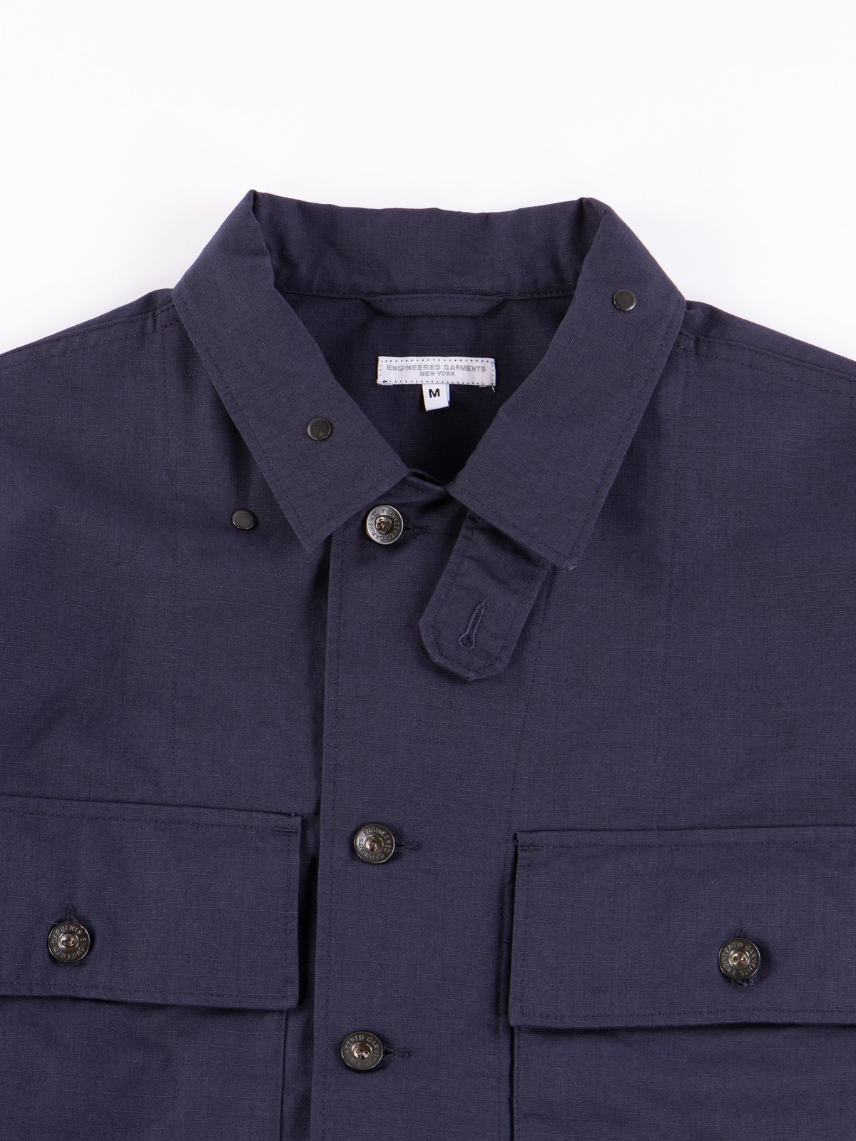 Dark Navy Cotton Ripstop M43/2 Shirt Jacket - Image 4