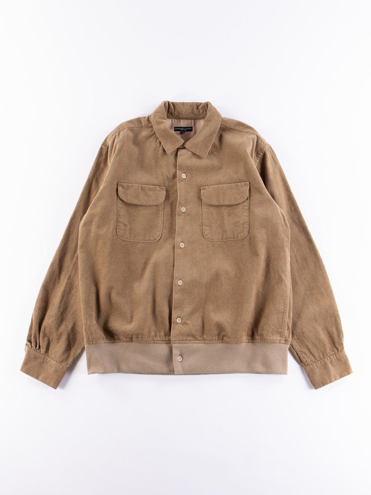 Khaki 14W Corduroy Classic Shirt - Image 1