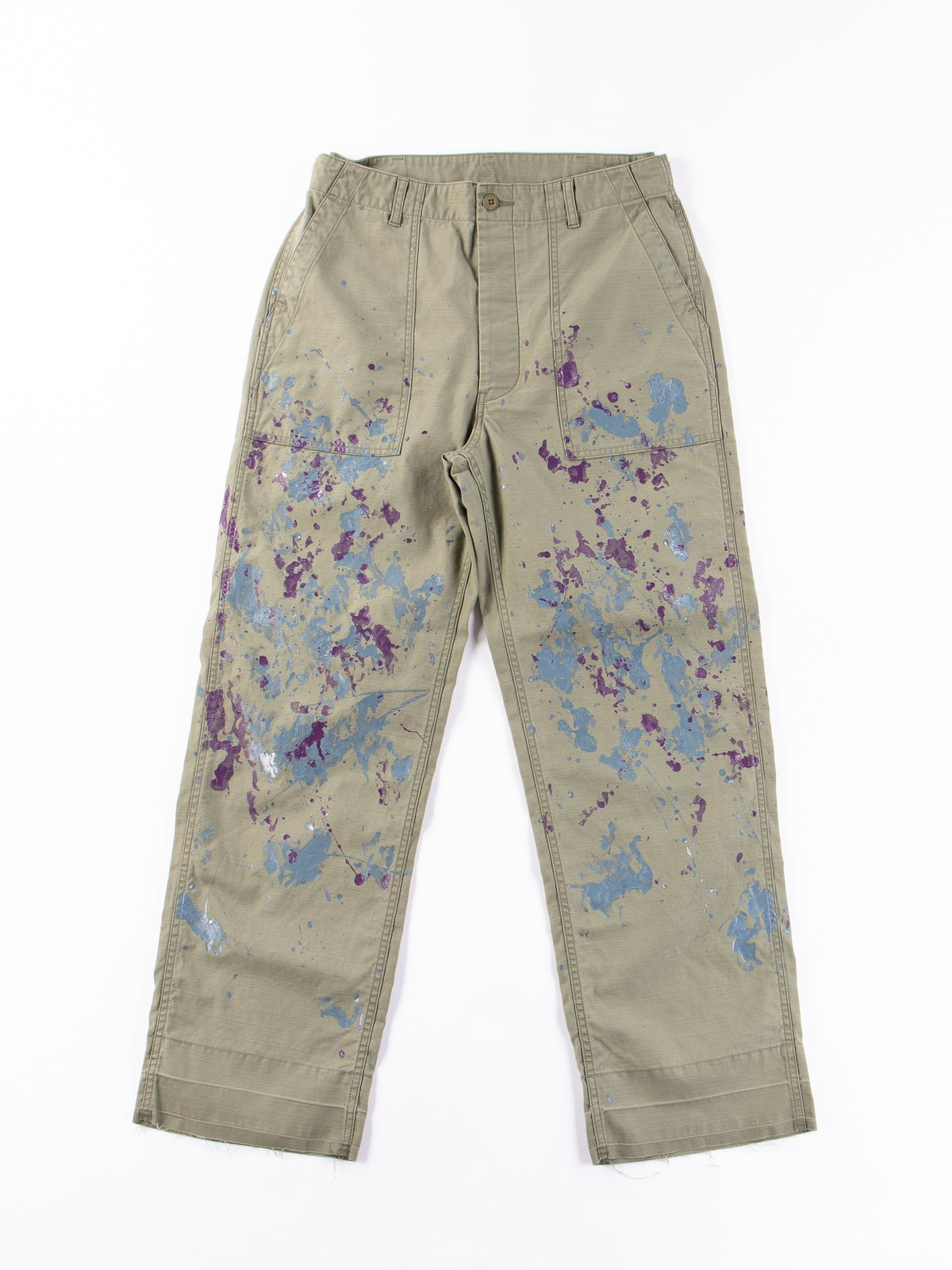 Olive Paint Sateen Fatigue Pant - Image 1