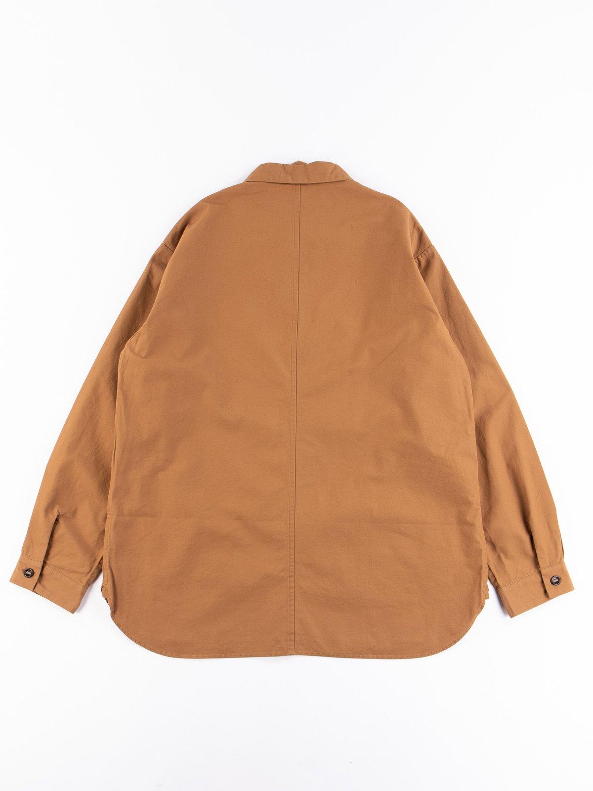Tan Gardener Oxford Shirt Jacket - Image 5