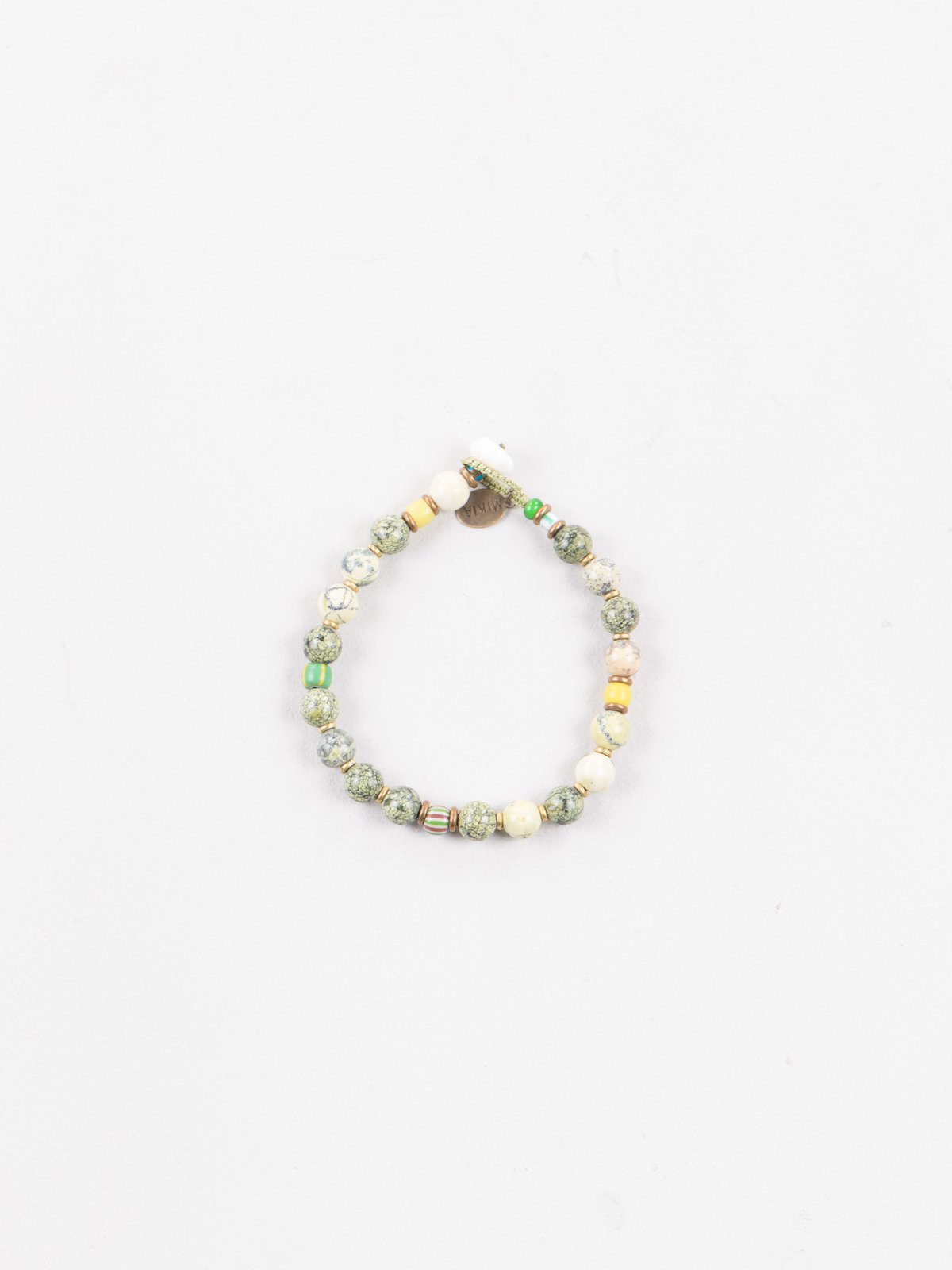 Yellow/Green 8mm Bracelet - Image 1