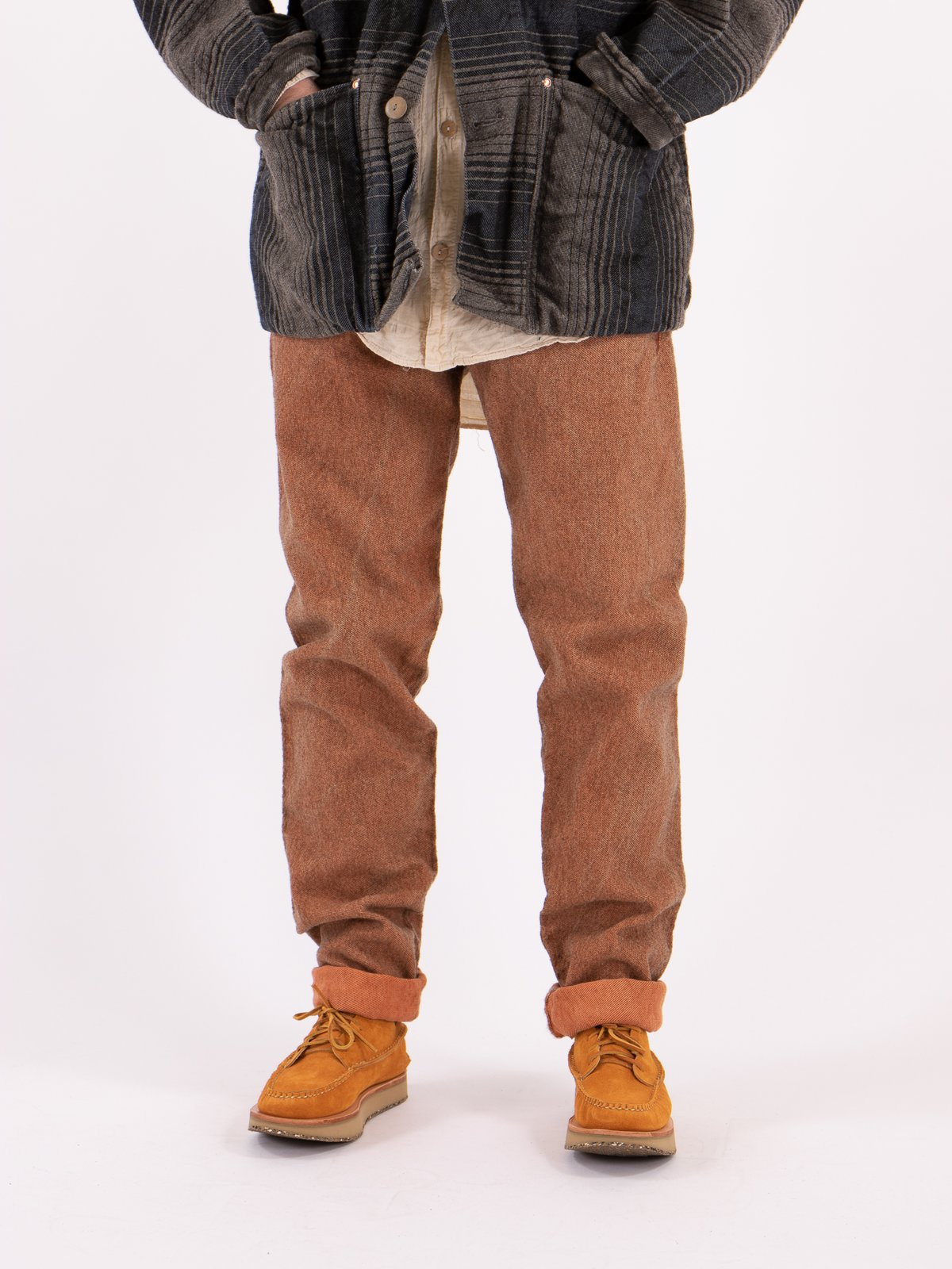 Red Ochre Dye Tapered Jean - Image 2