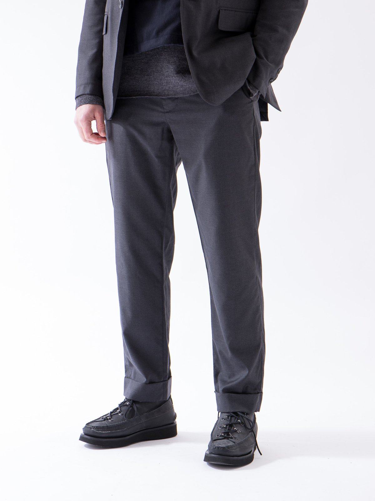 Charcoal Worsted Wool Gabardine Andover Pant - Image 2