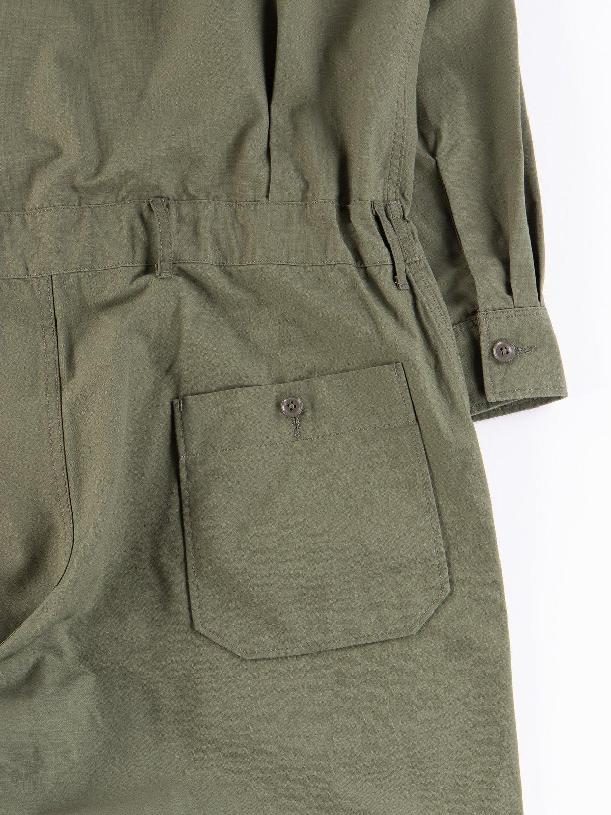 Olive Cotton Ripstop Boiler Suit - Image 7