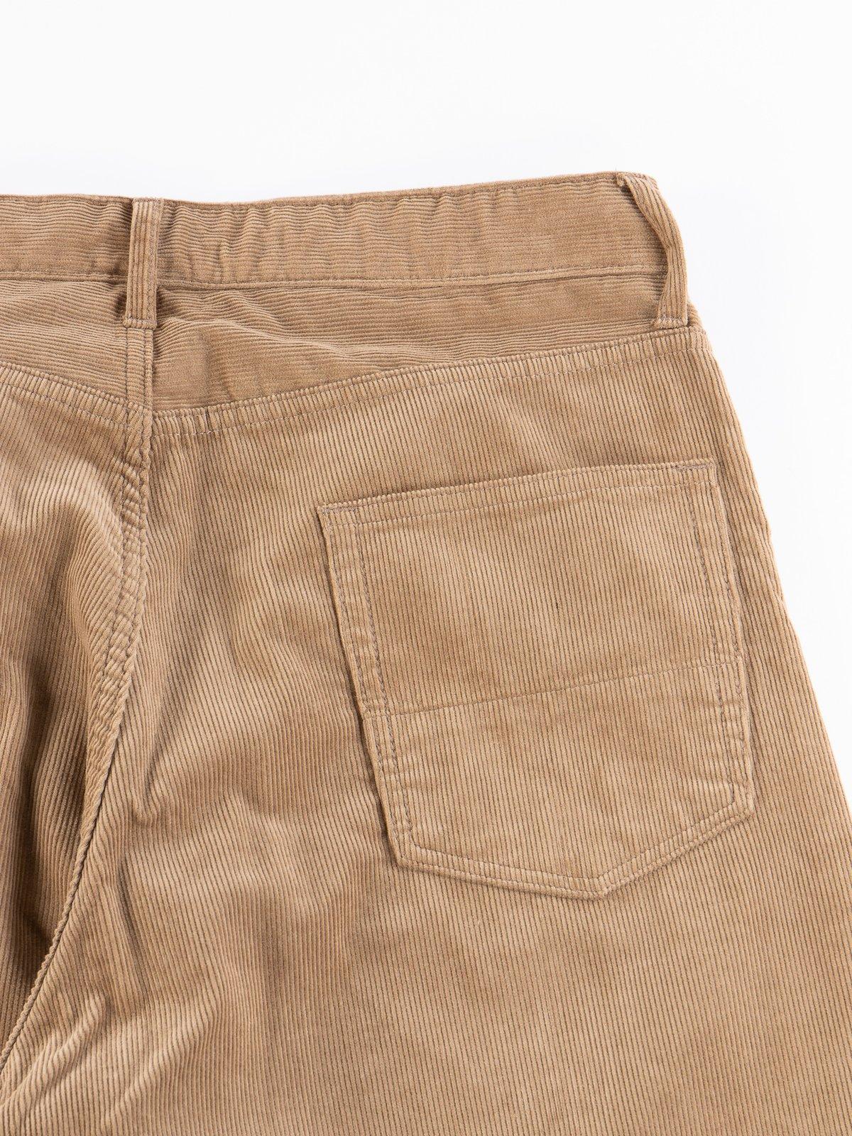 Khaki 14W Corduroy Wide Peg Jean - Image 6