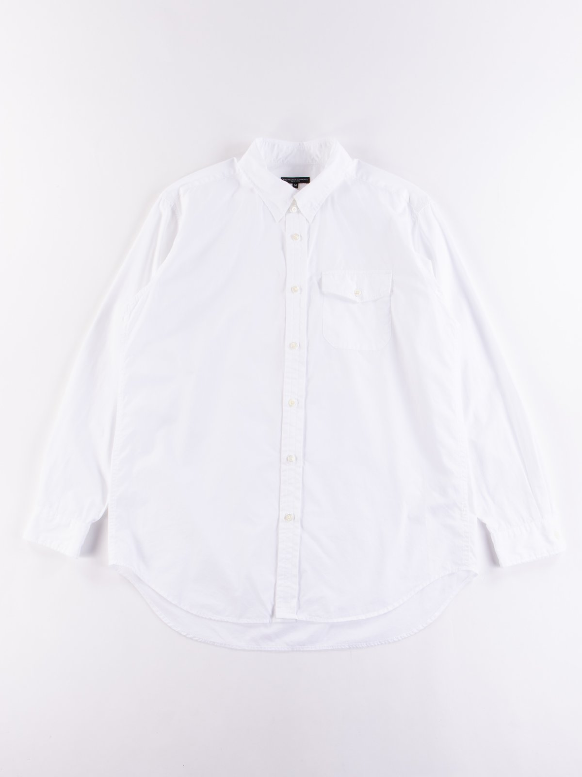 White 100's 2Ply Broadcloth Tab Collar Shirt - Image 1