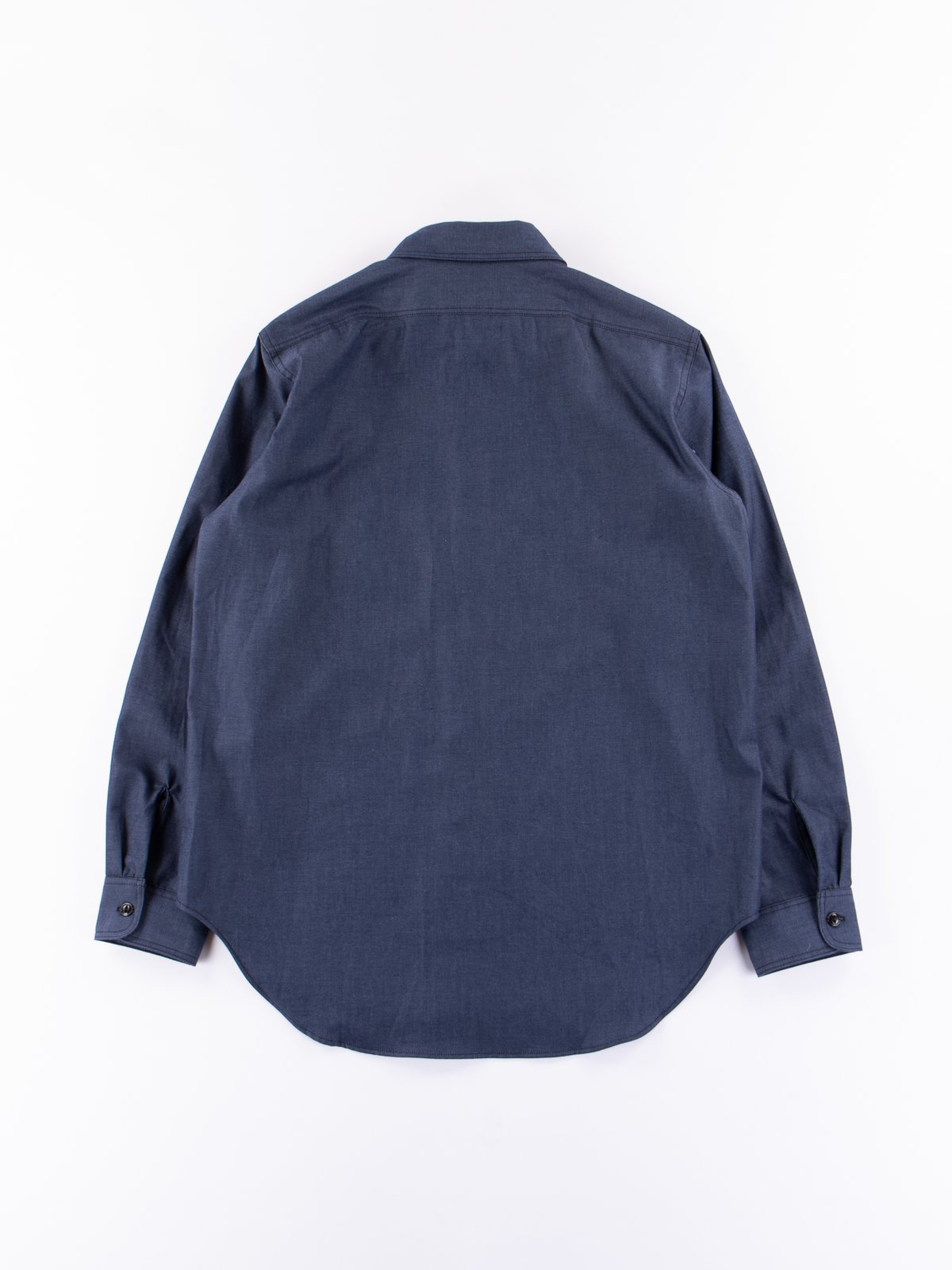 Indigo Cotton Denim Utility Shirt - Image 4