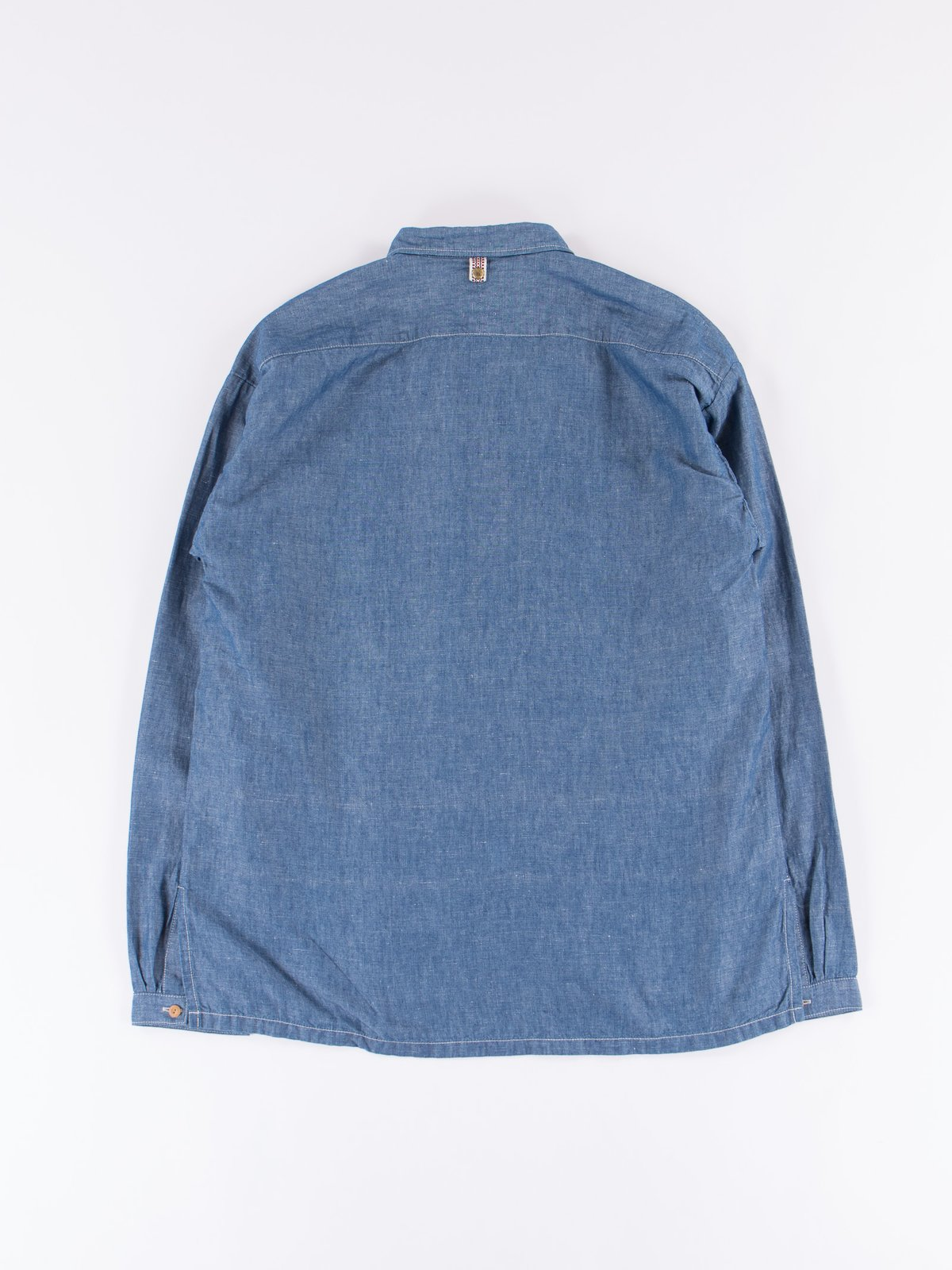 Blue Chambray Kerchief Tunic Shirt - Image 6