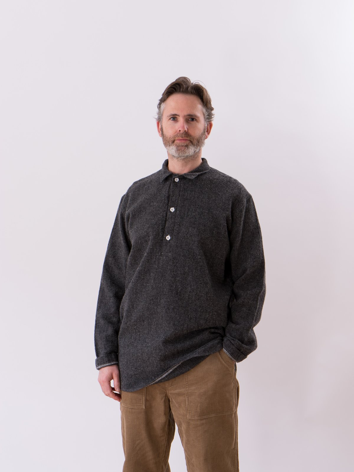 Charcoal Weavers Stock Pullover Tail Shirt - Image 2
