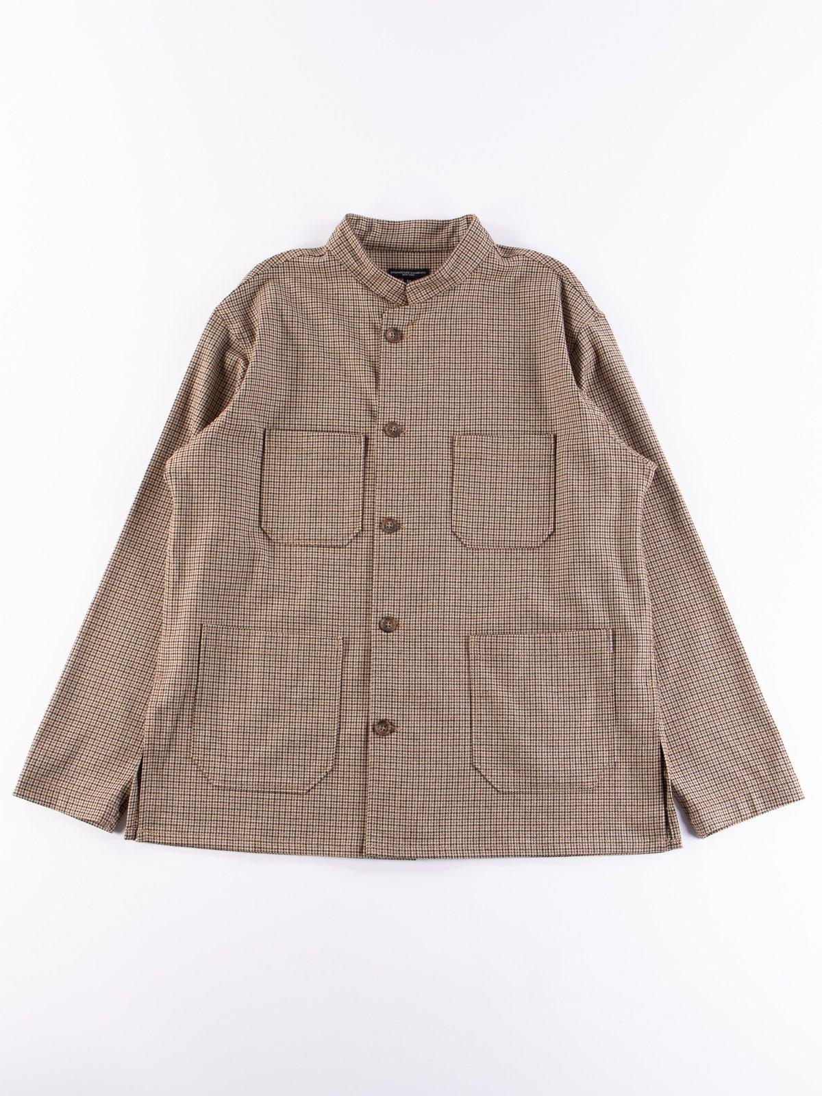 Brown Wool Poly Gunclub Dayton Shirt - Image 1
