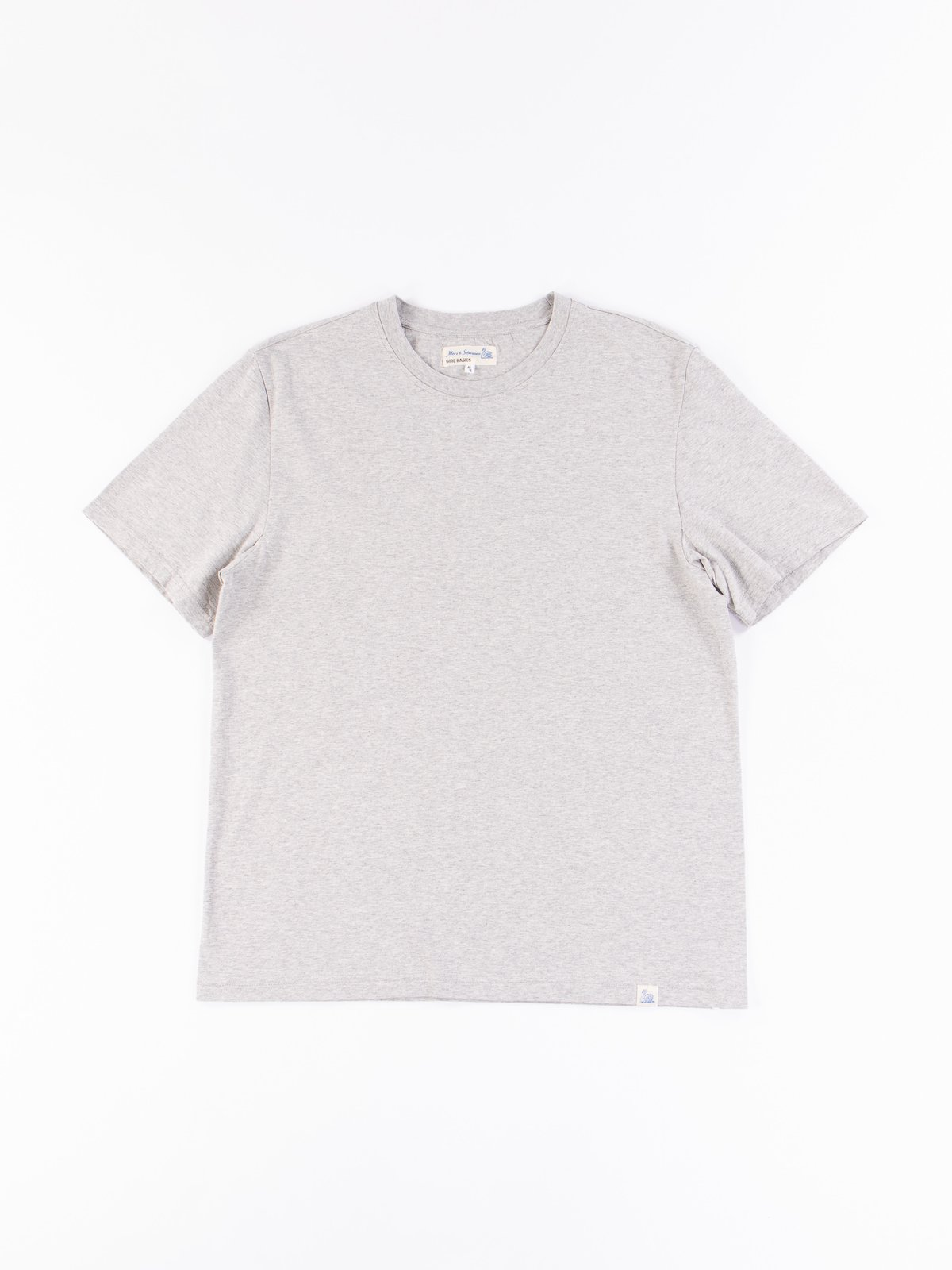Grey Melange Good Basics CTOS01 Oversized Crew Neck Tee - Image 1