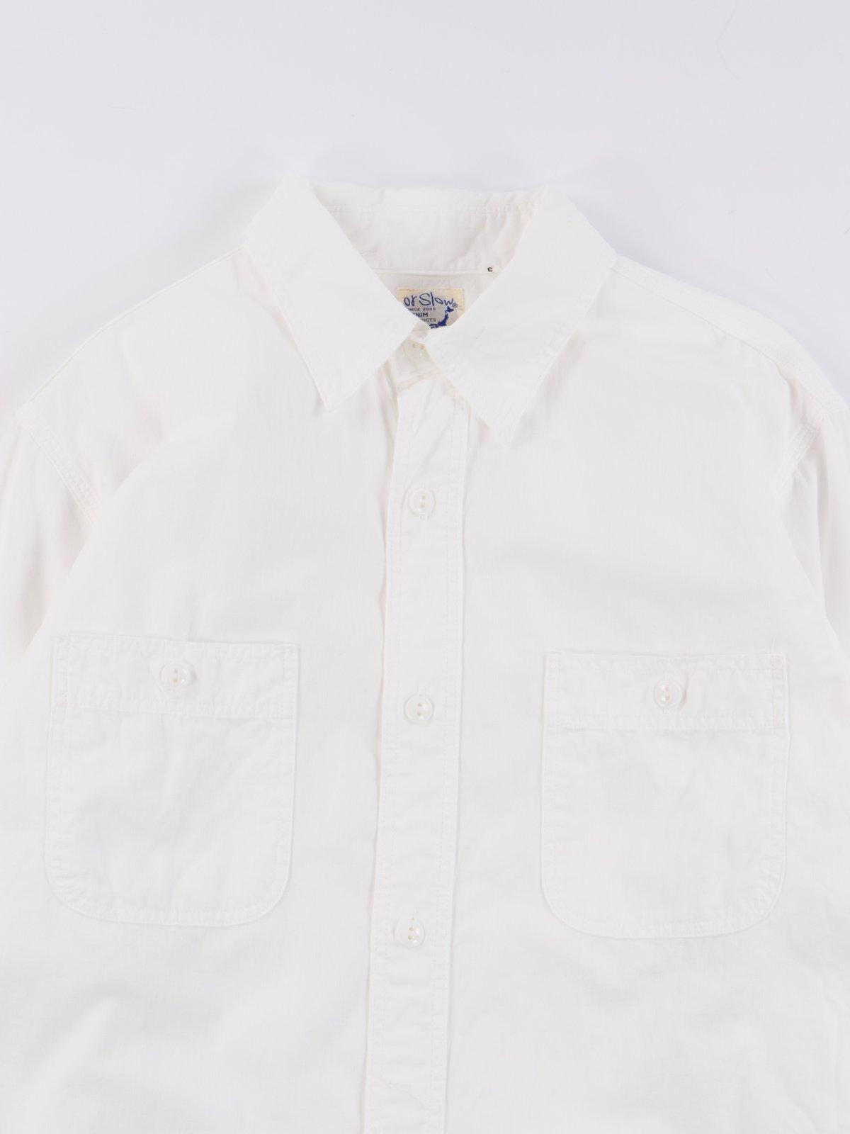 White Chambray Work Shirt - Image 3