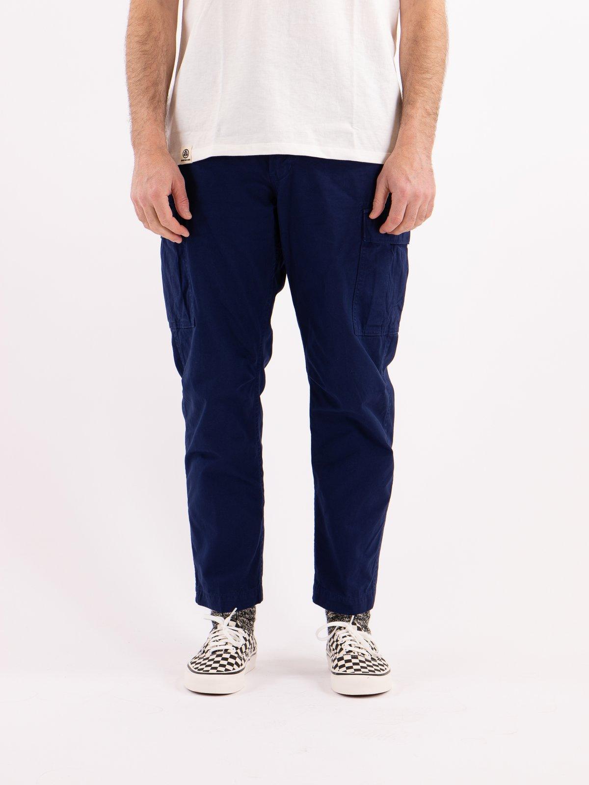 Ink Blue Poplin Easy Cargo Pant - Image 2