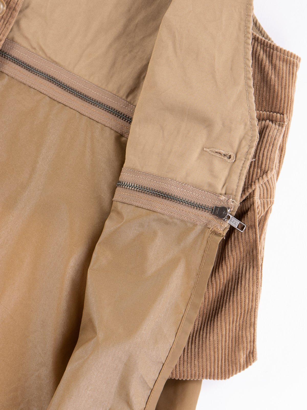 Khaki 8W Corduroy Long Fowl Vest - Image 6