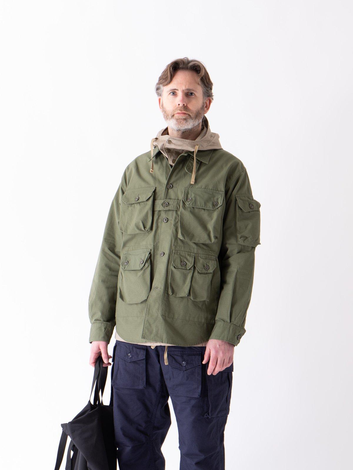 Olive Cotton Ripstop Explorer Shirt Jacket - Image 3