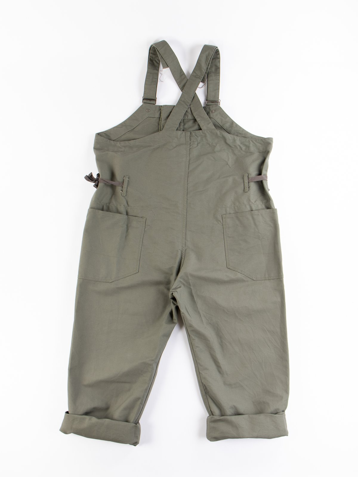 Olive Cotton Double Cloth Overalls - Image 6