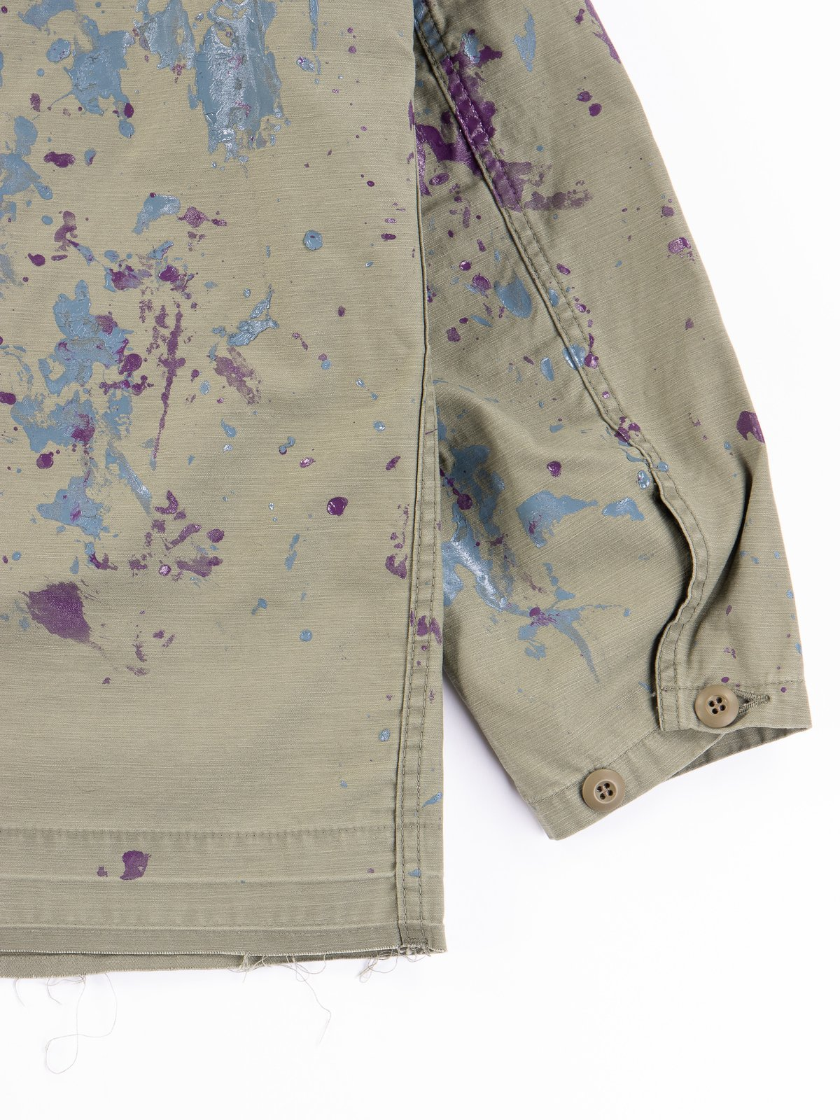 Olive Paint Sateen D.N Coverall - Image 5