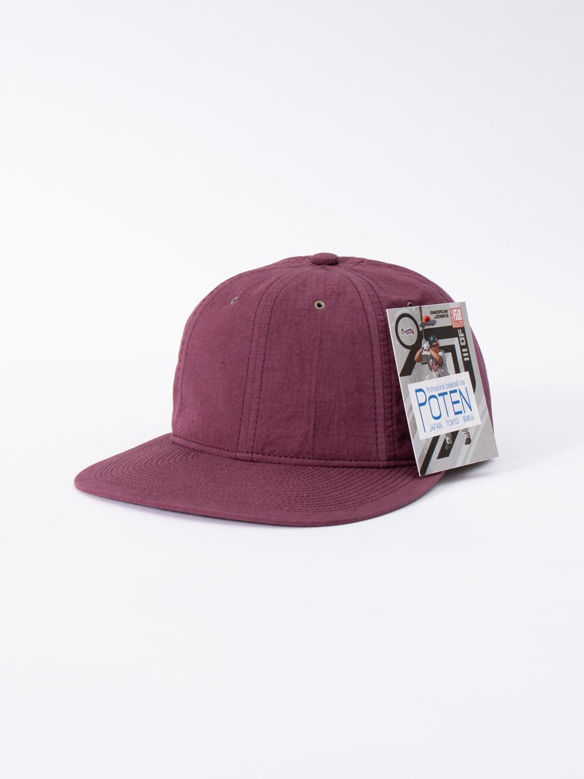 WINE SPECIAL DYED COTTON / LINEN CAP - Image 1