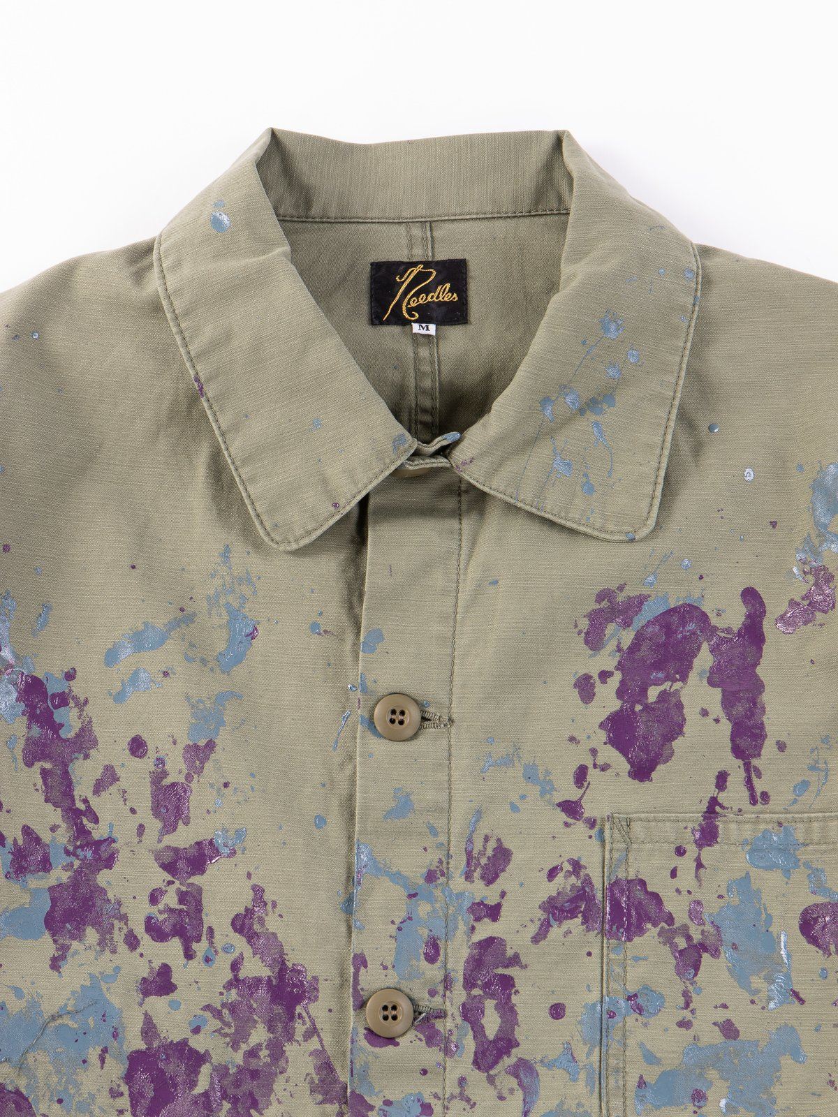 Olive Paint Sateen D.N Coverall - Image 2
