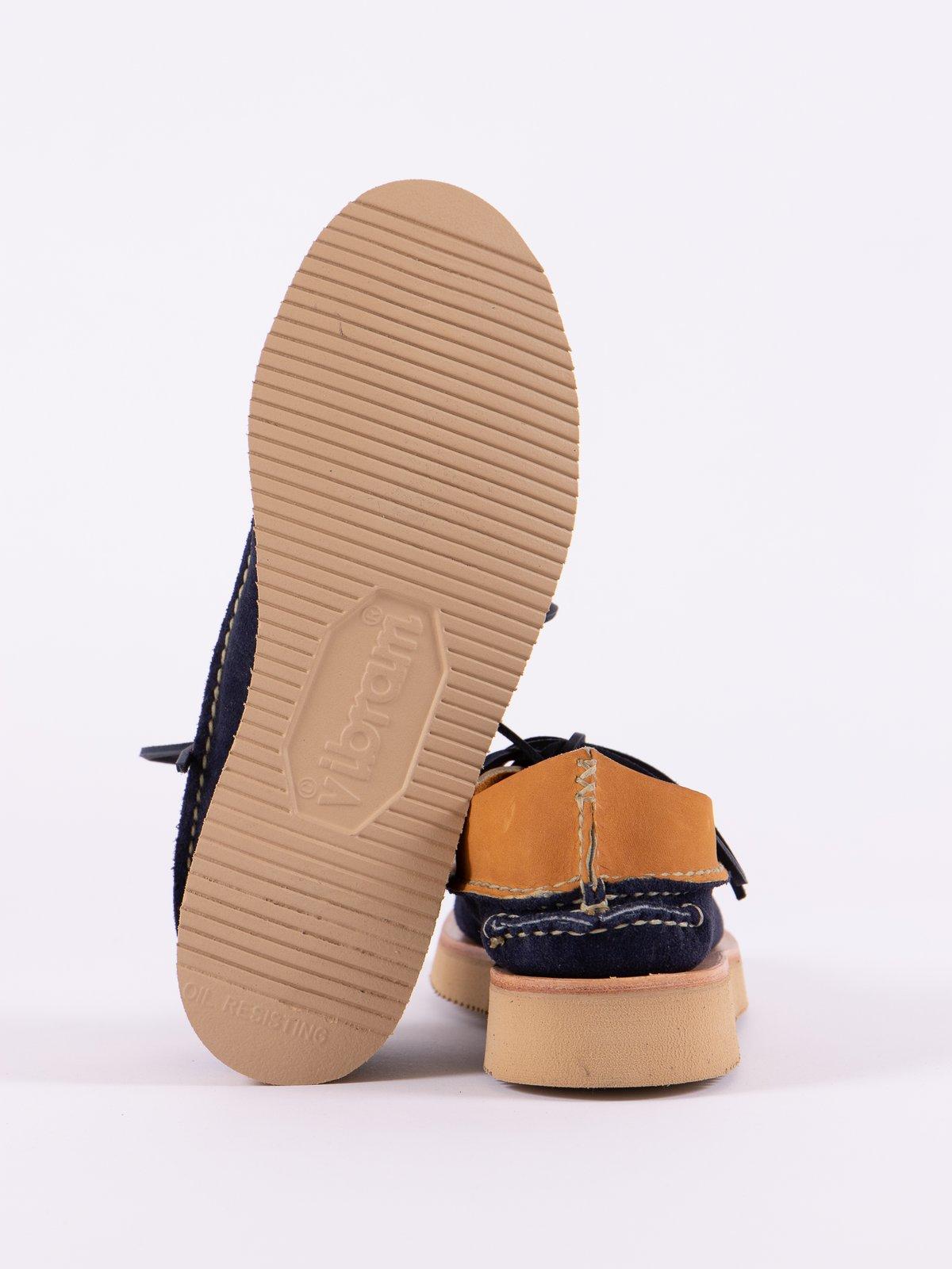 Indigo/Tan All Handsewn Sneaker Moc Ox Exclusive - Image 5