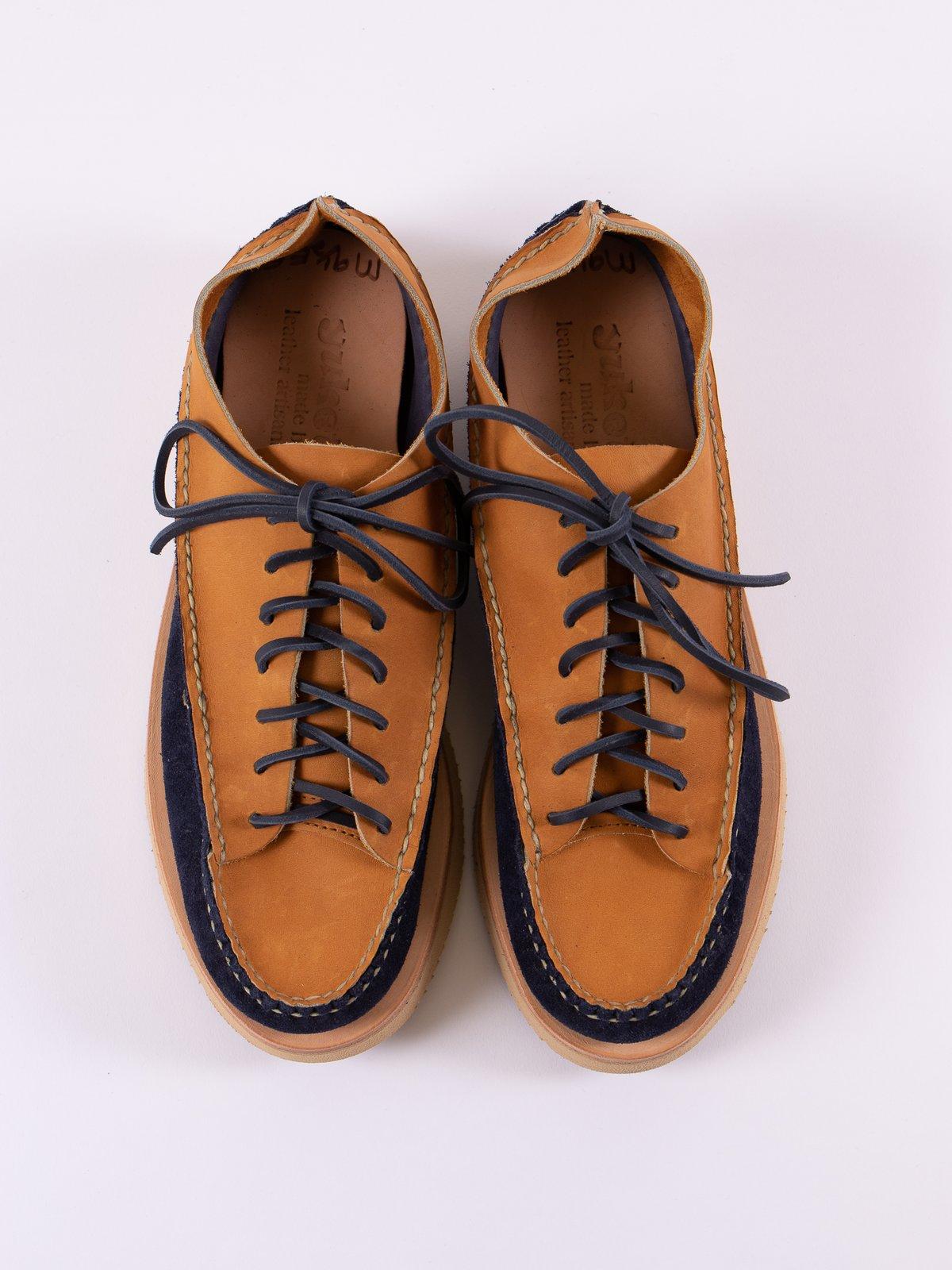 Indigo/Tan All Handsewn Sneaker Moc Ox Exclusive - Image 6