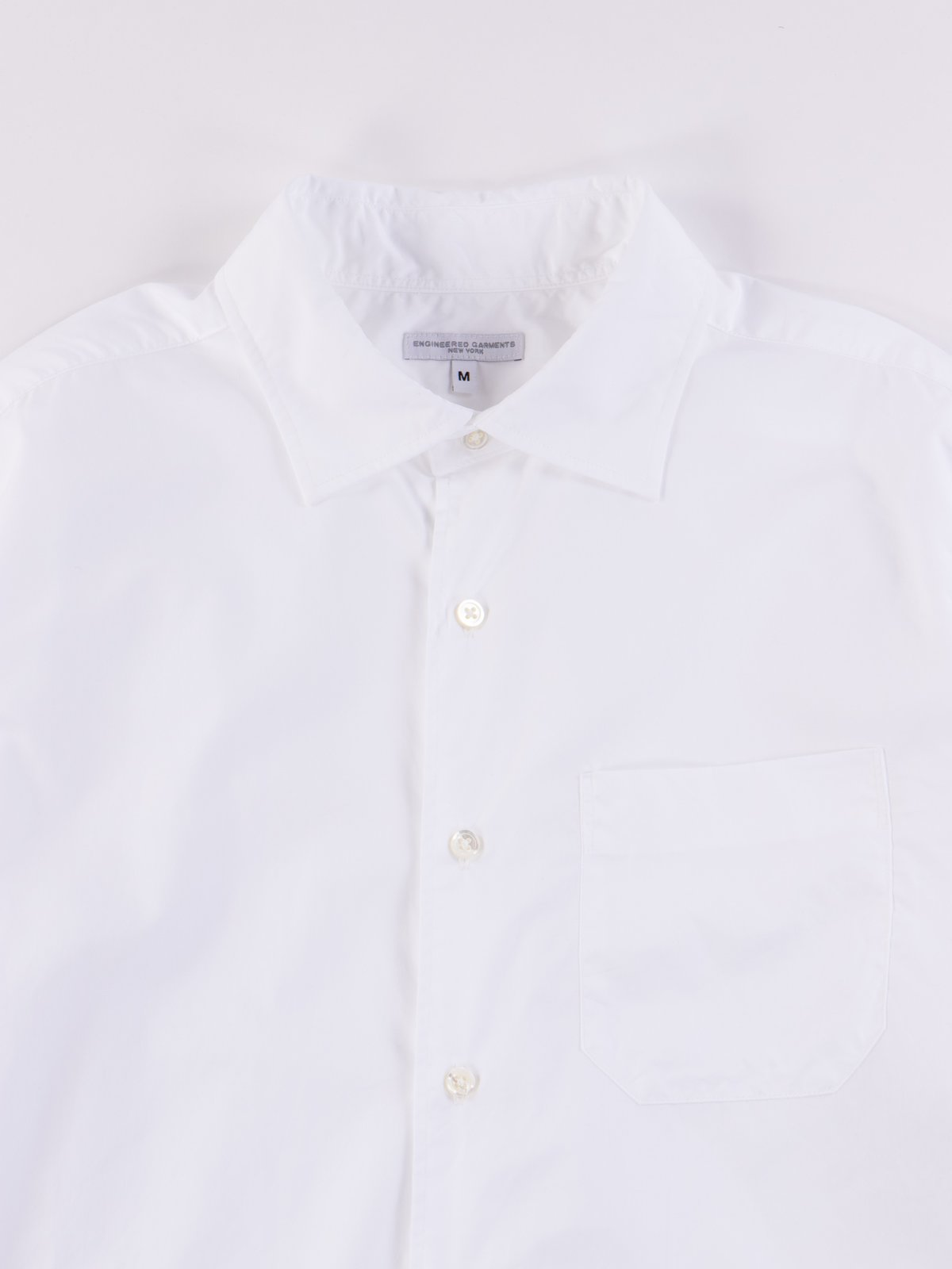 White 100's 2Ply Broadcloth Spread Collar Shirt SS20 - Image 3