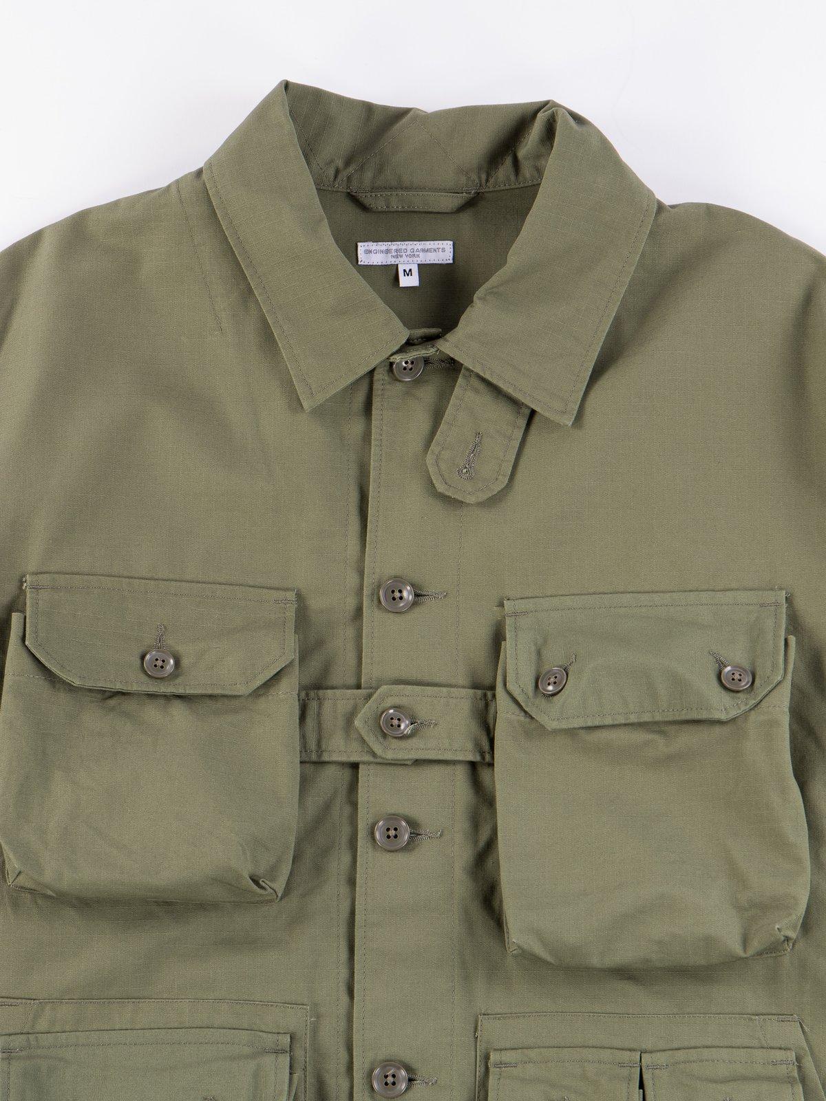 Olive Cotton Ripstop Explorer Shirt Jacket - Image 4